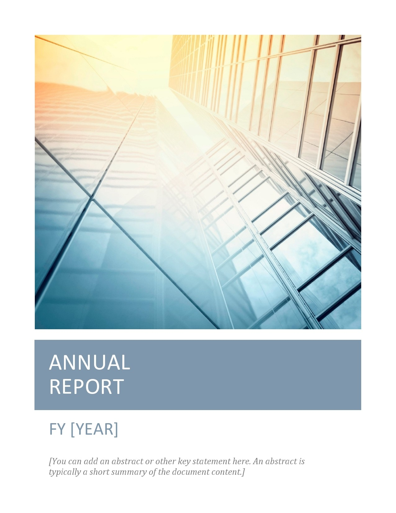 Free annual report template 07