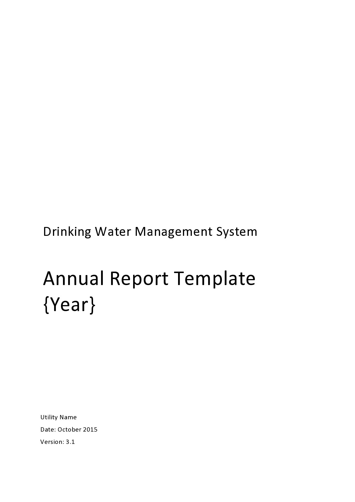 Free annual report template 12