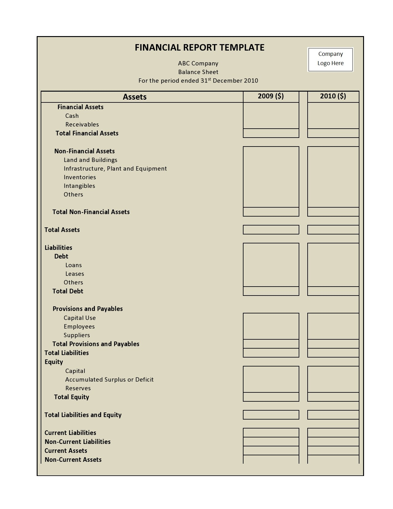 Free annual report template 13