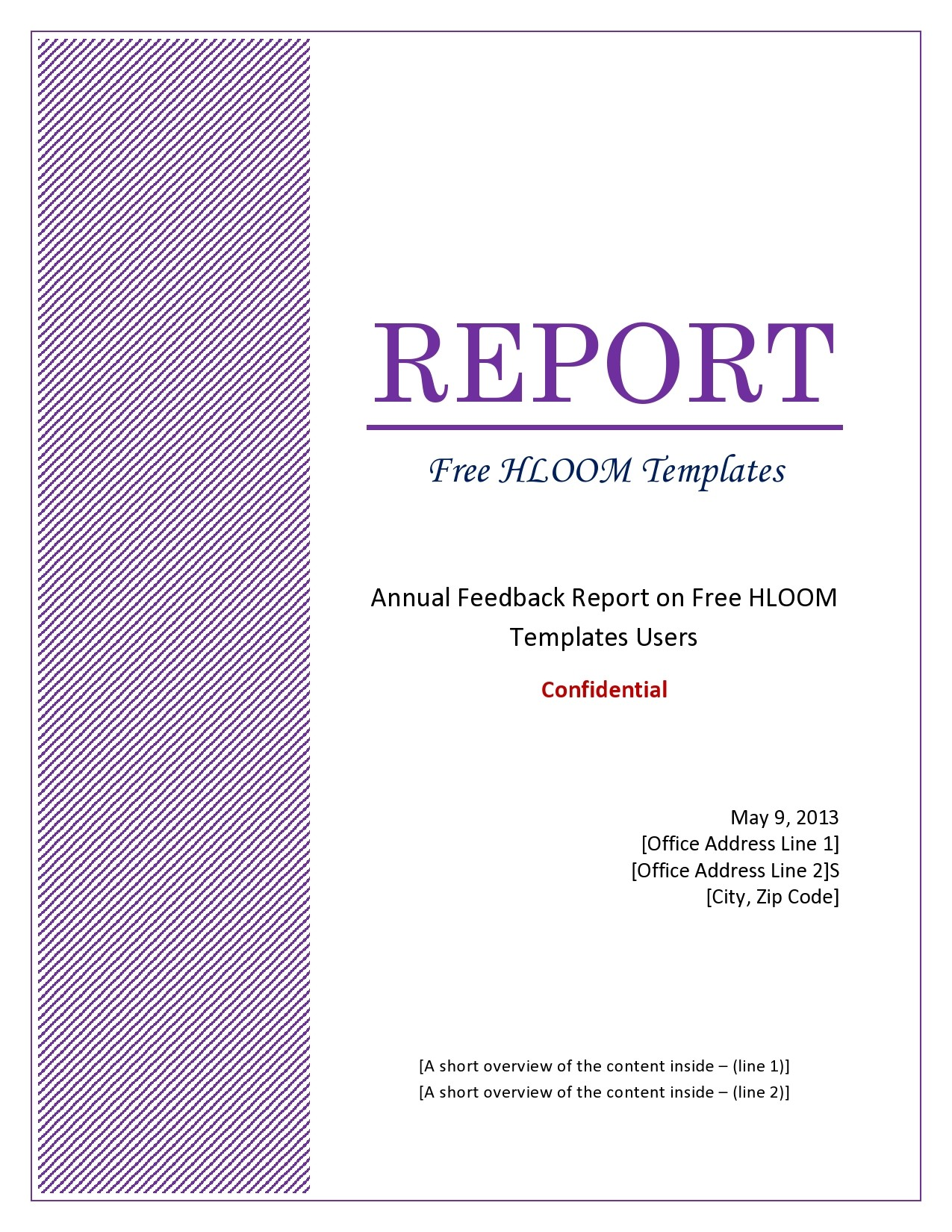 Free annual report template 18