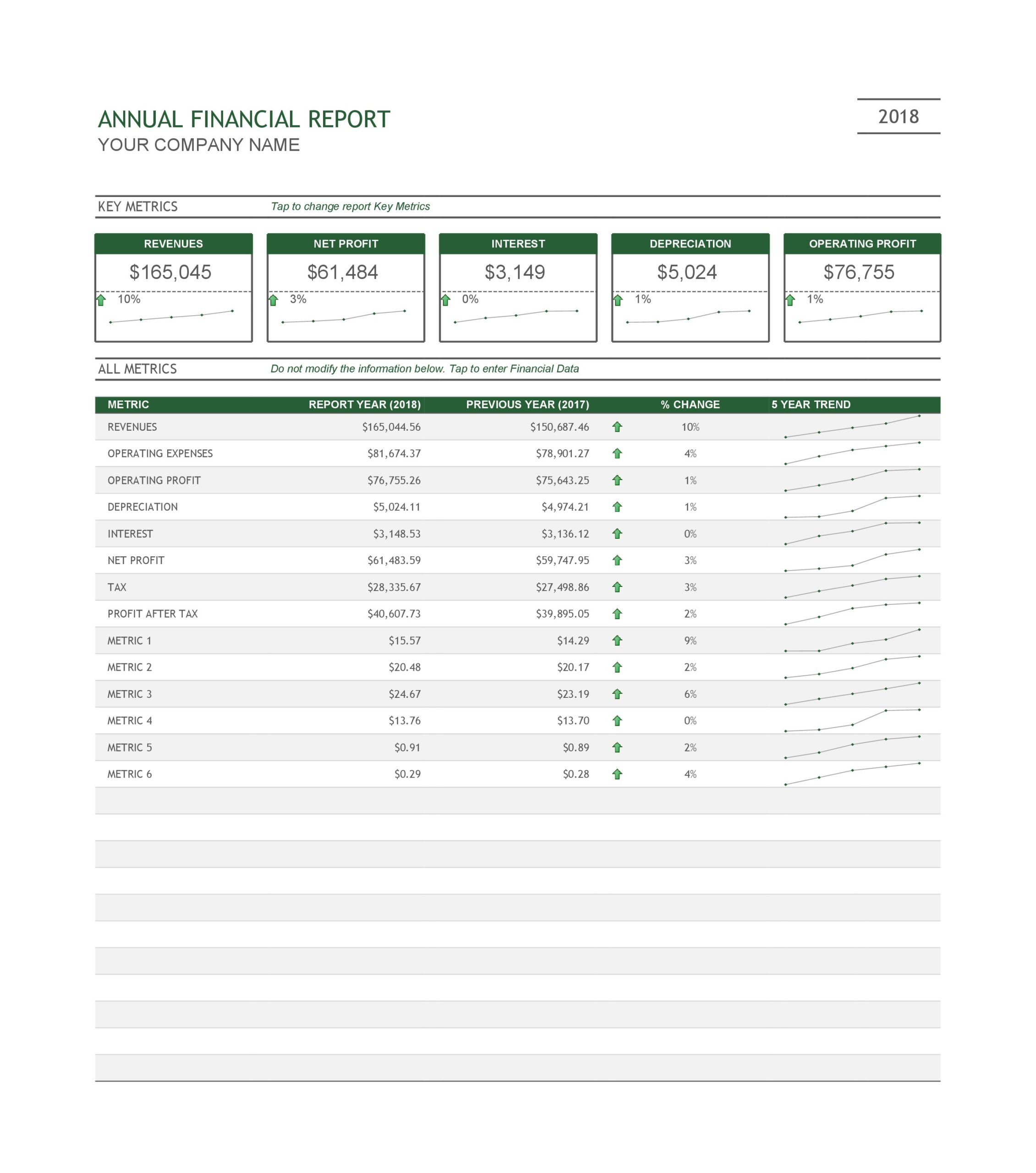 Free annual report template 22