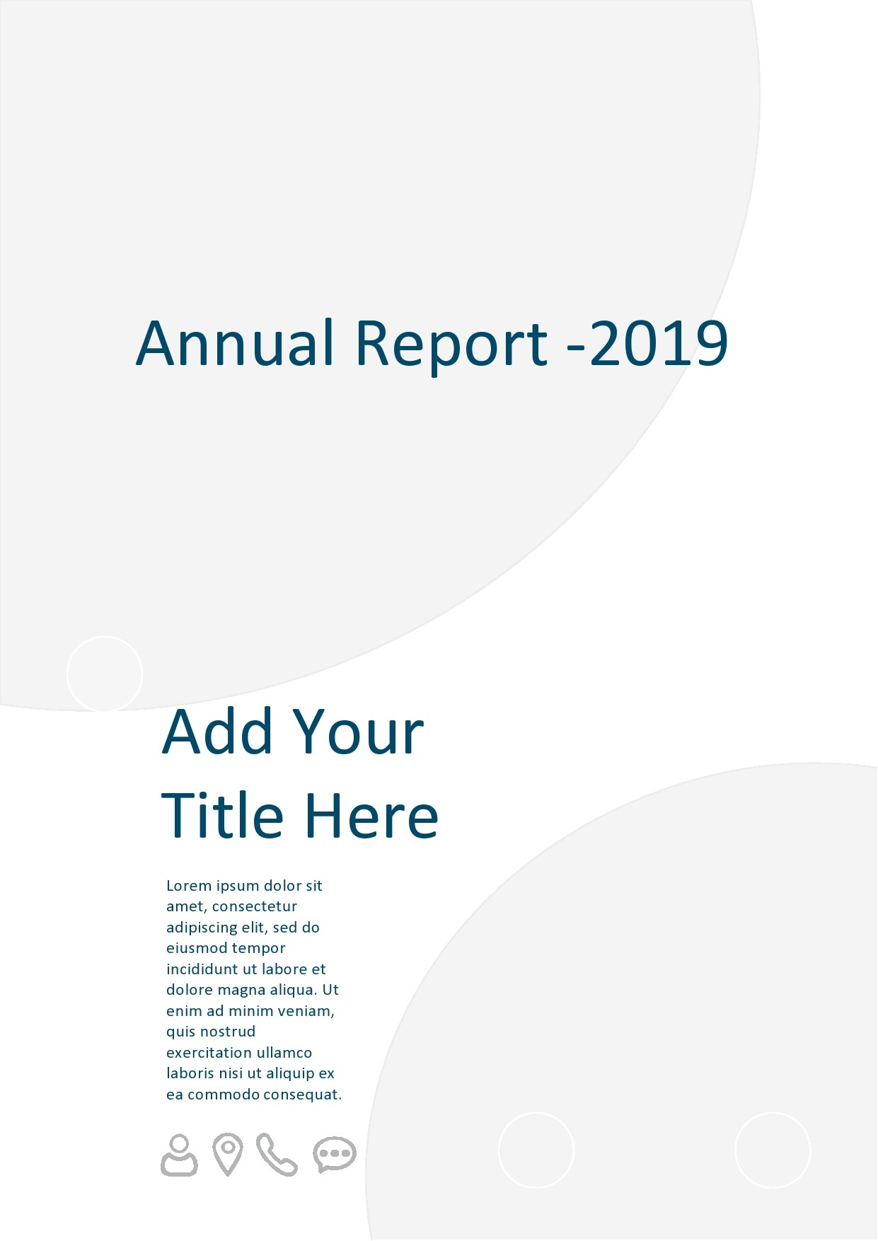 Free annual report template 23