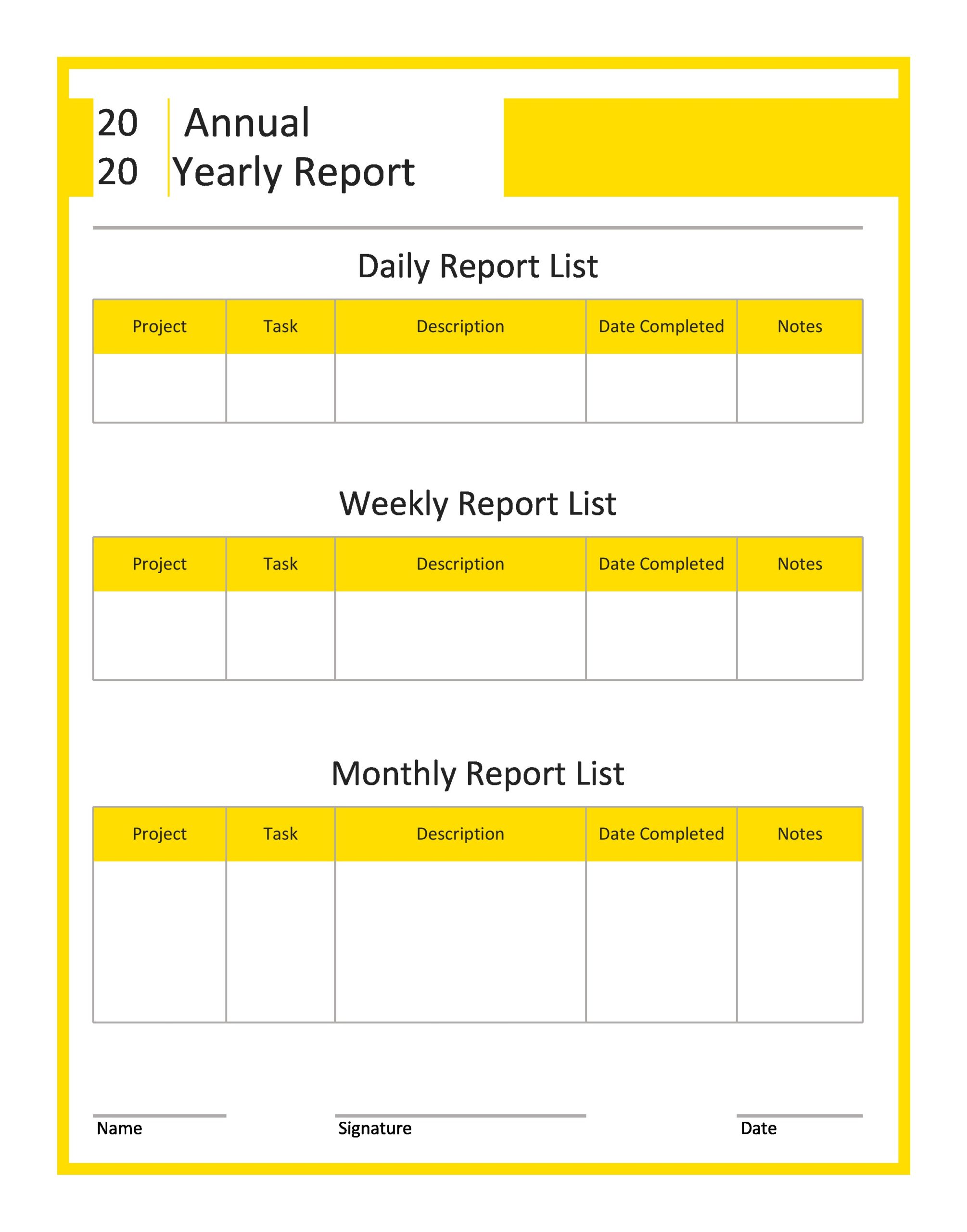 Free annual report template 26