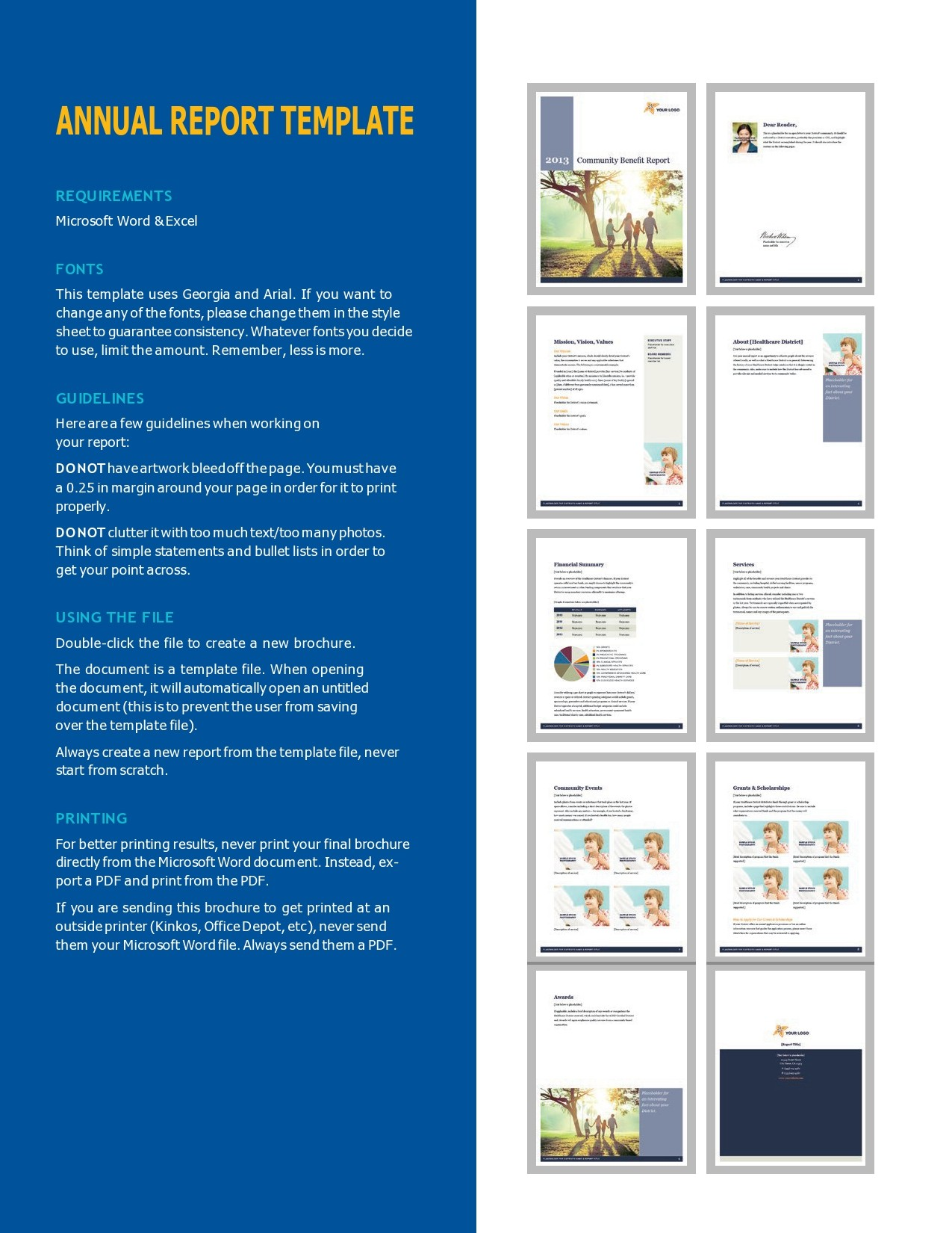 Free annual report template 35