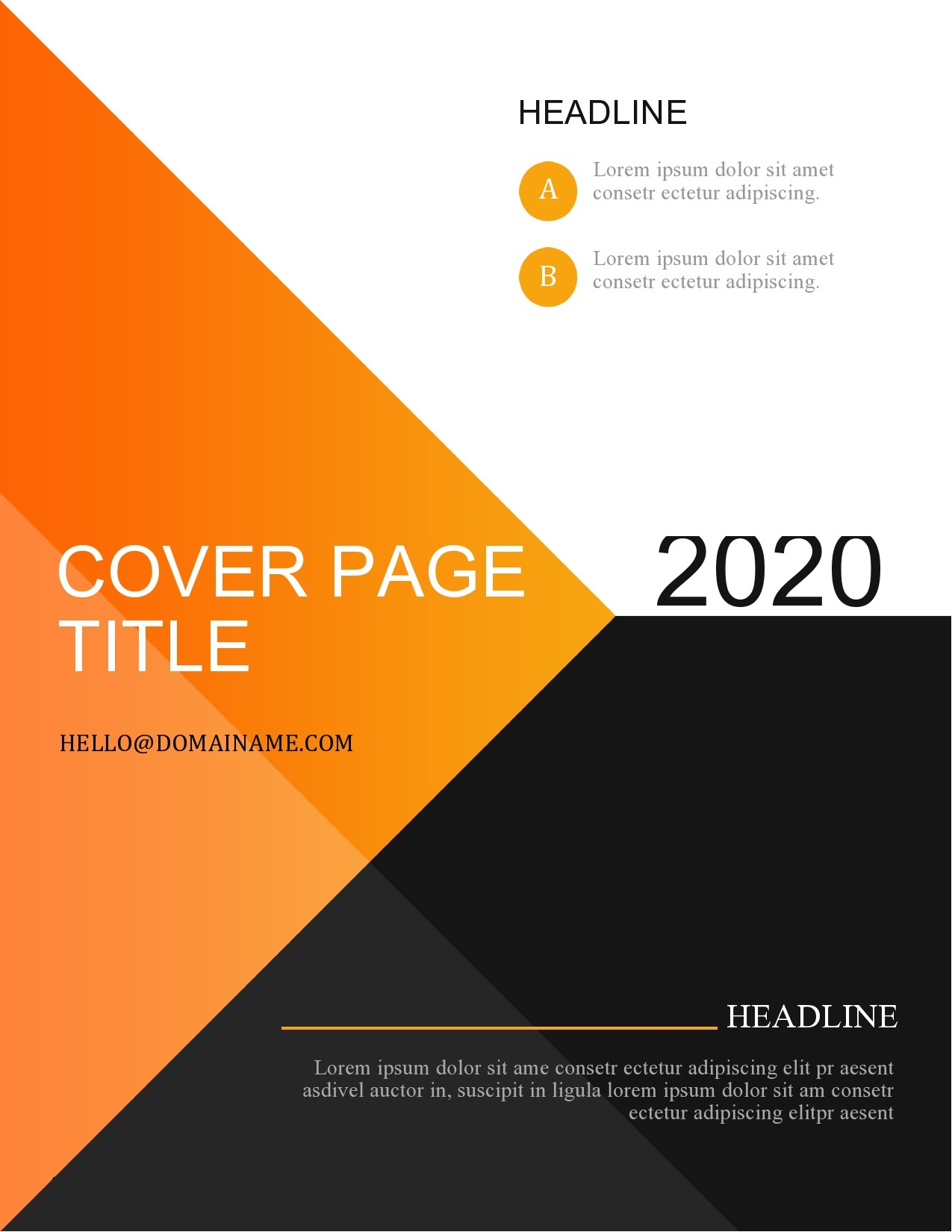 Free annual report template 41