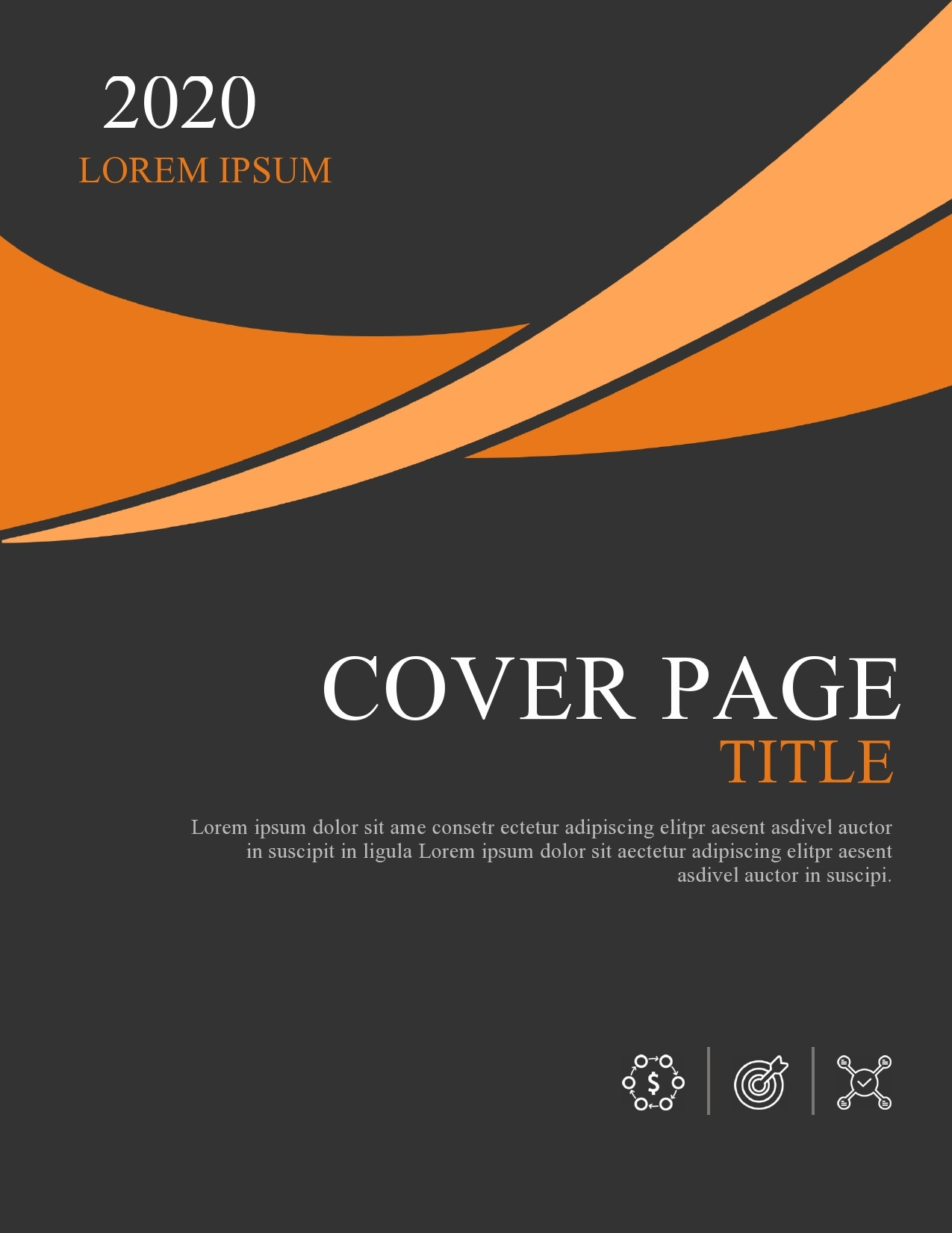 Free annual report template 44