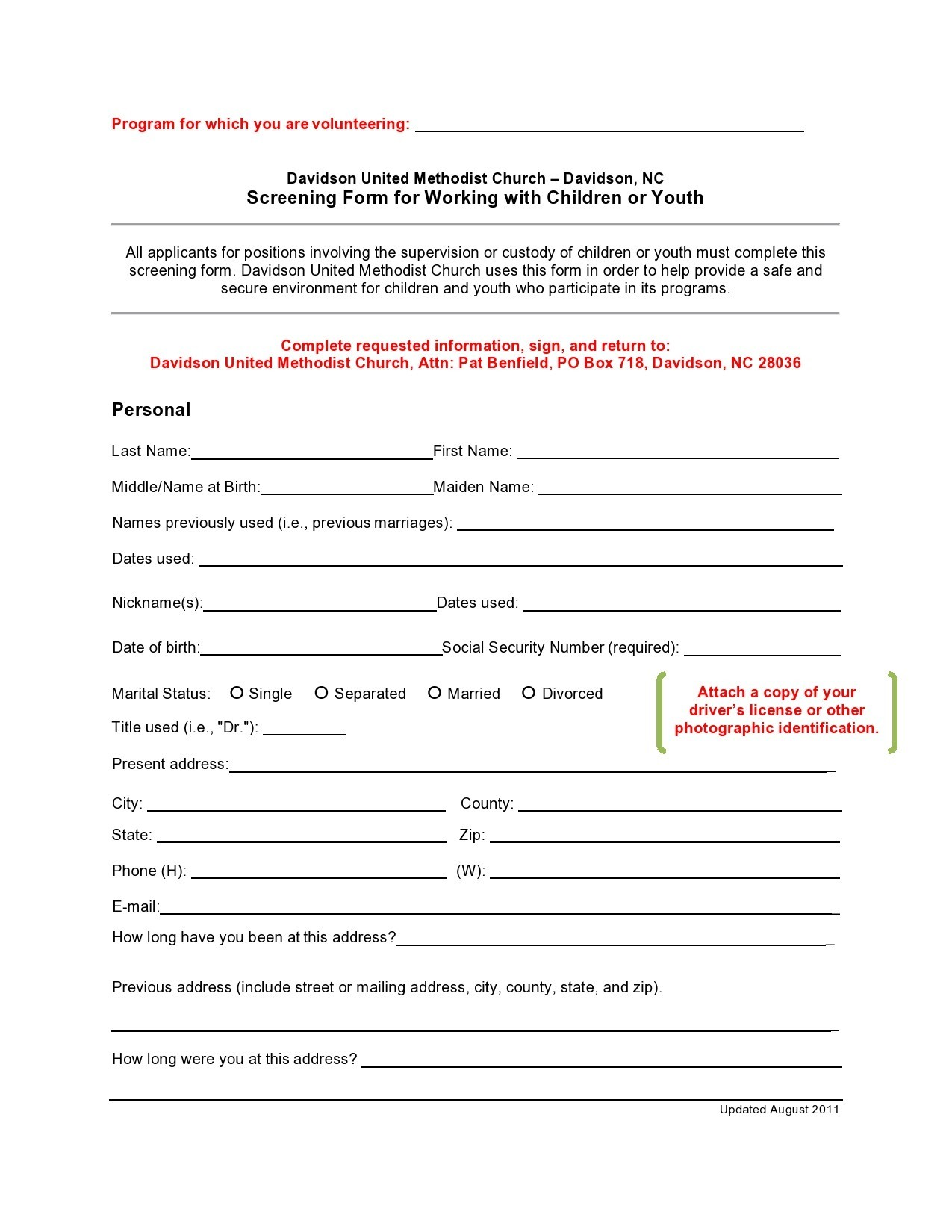 Free background check form 01