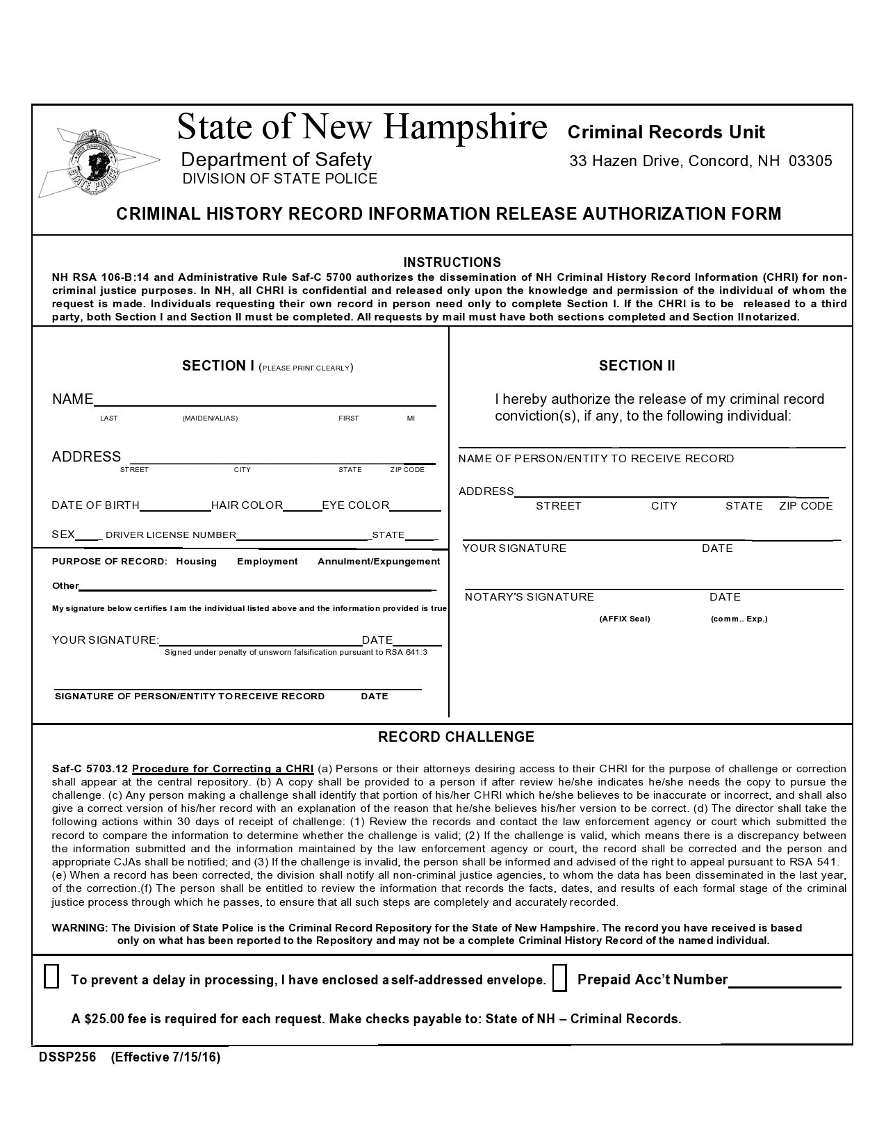 Free background check form 17