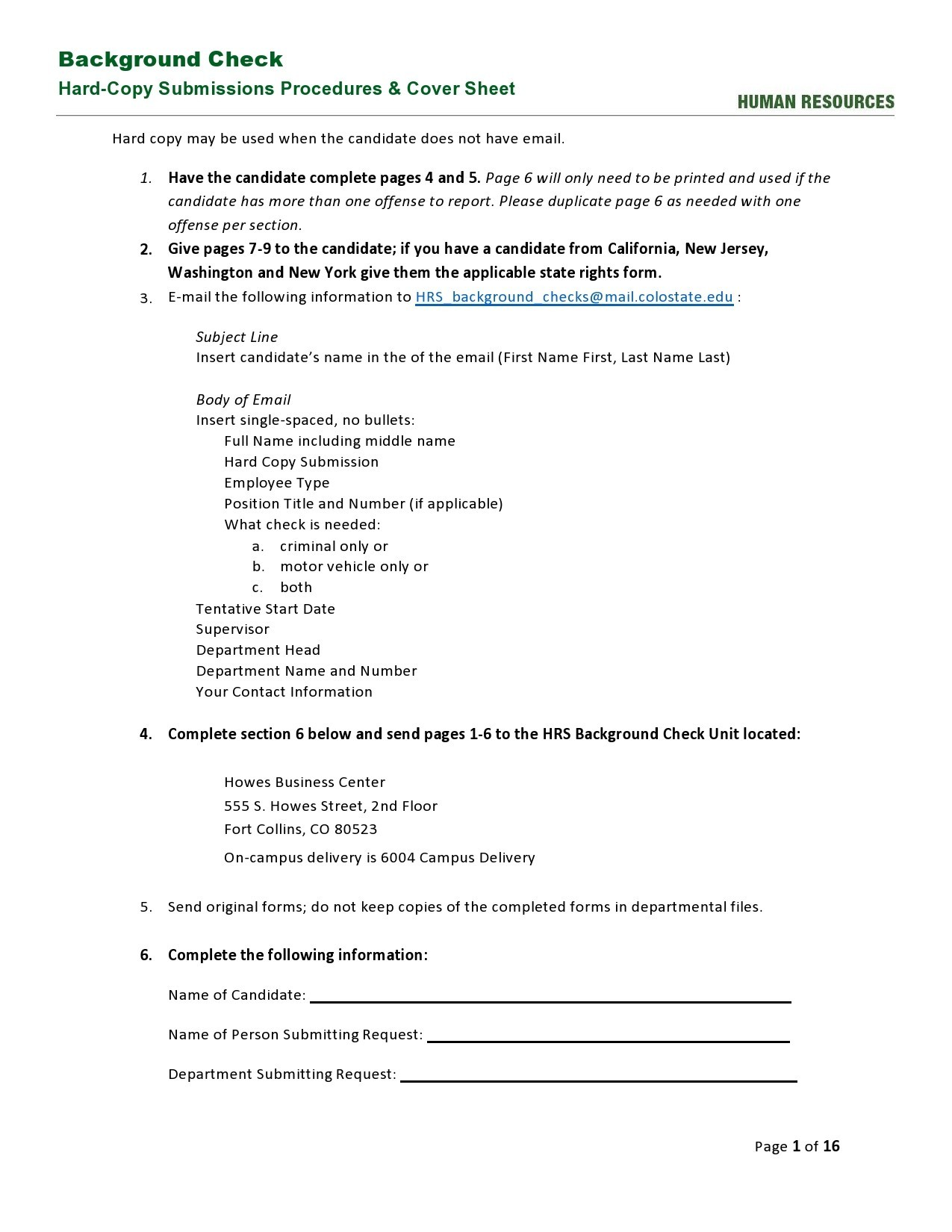 Free background check form 36