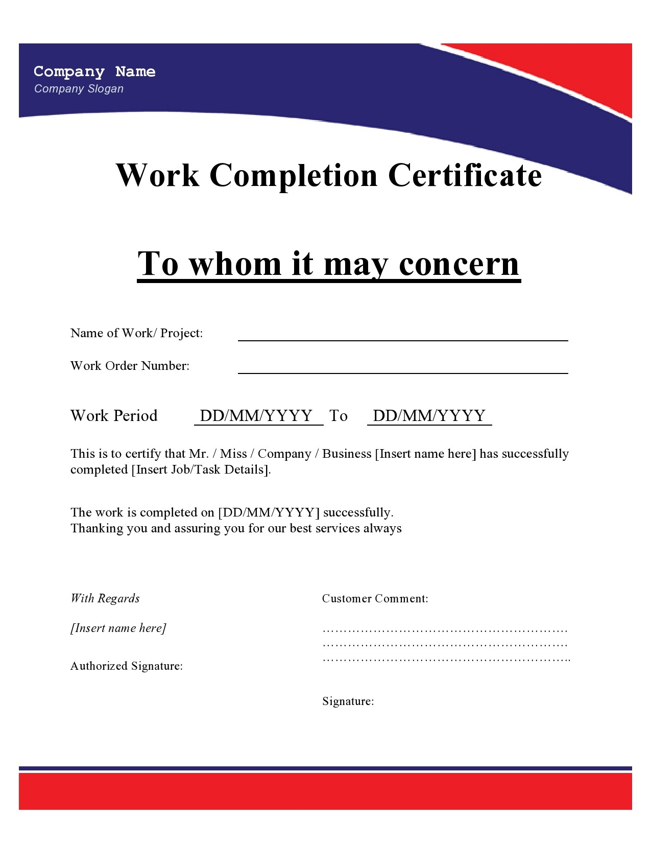 Certificates Of Employment