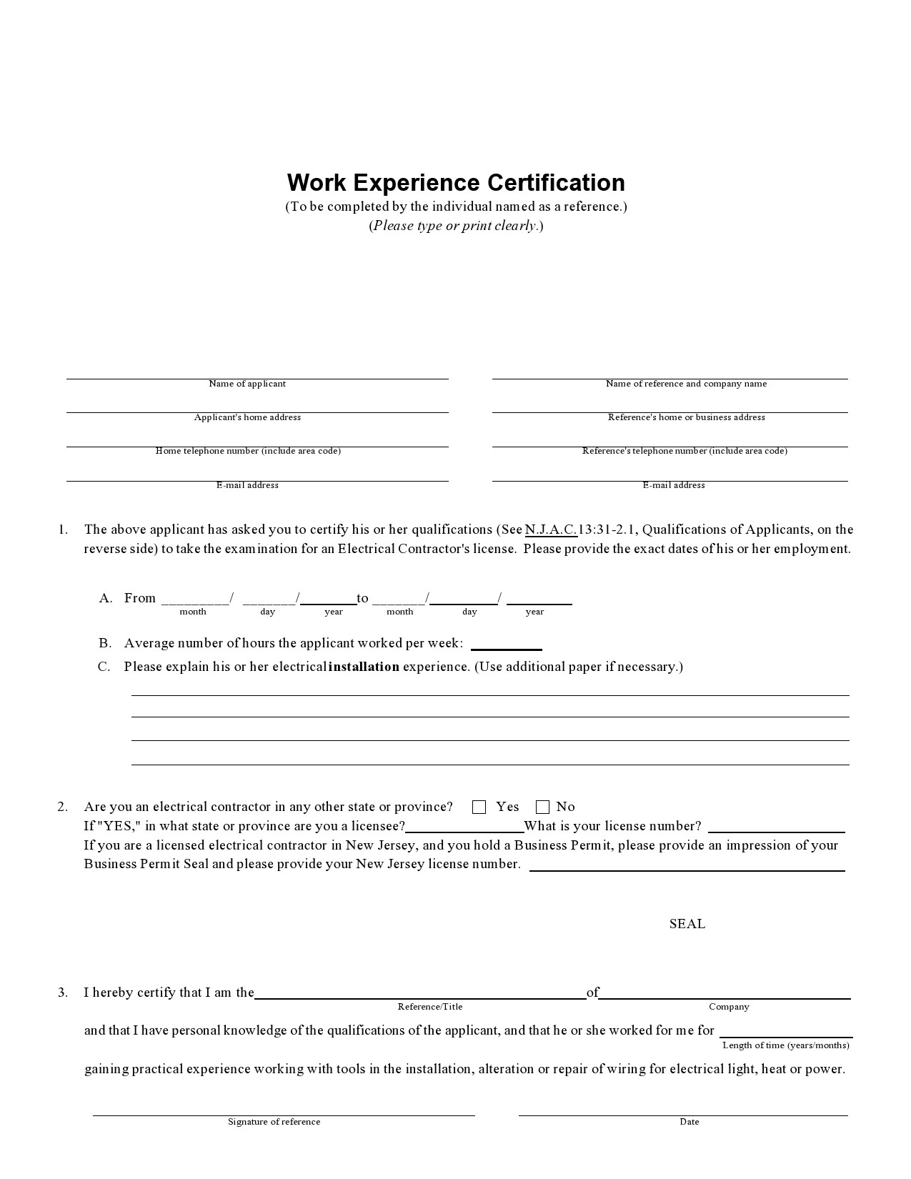Free certificate of employment 40