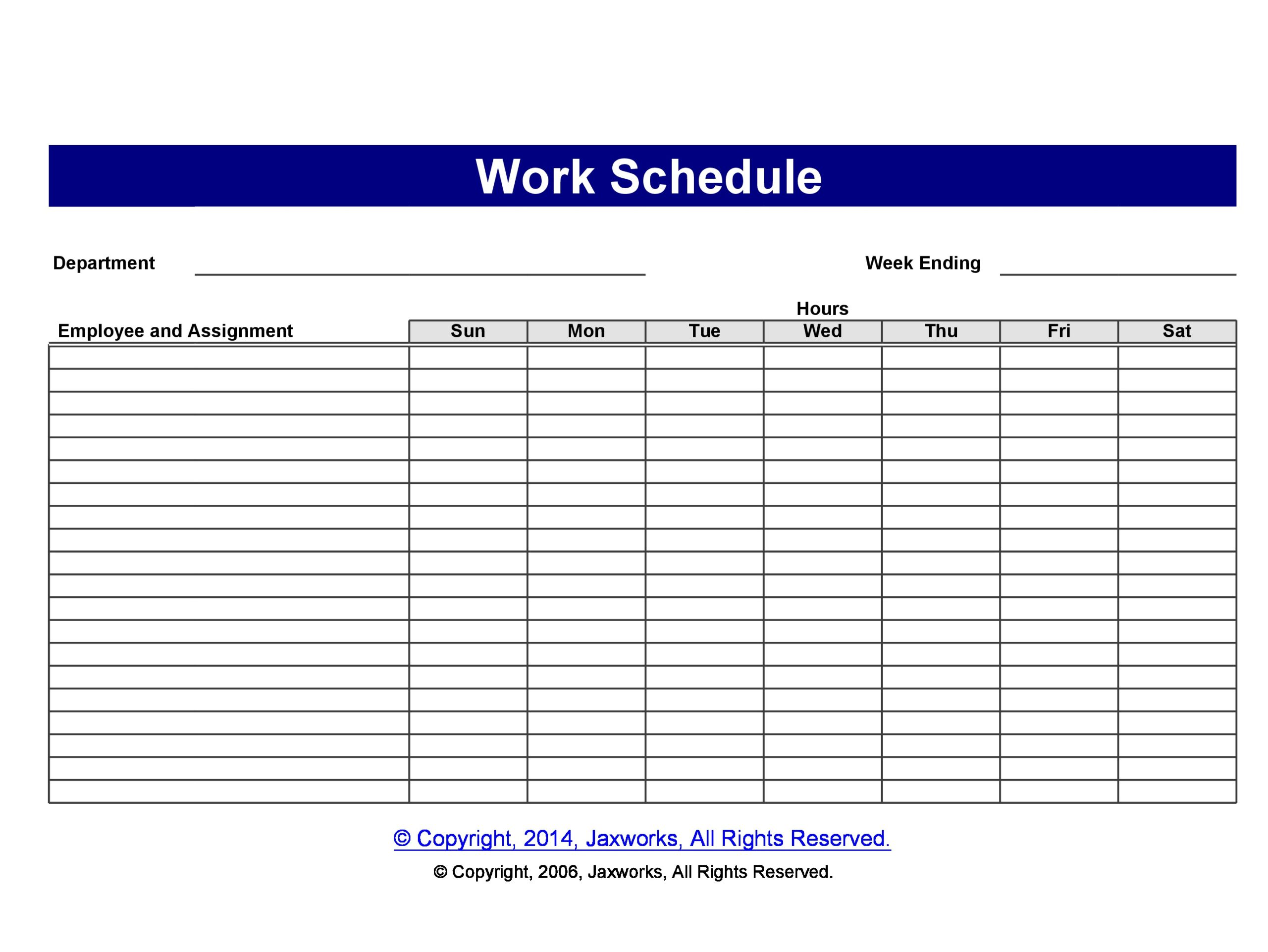 40 Free Employee Schedule Templates (Excel & Word) ᐅ ...
