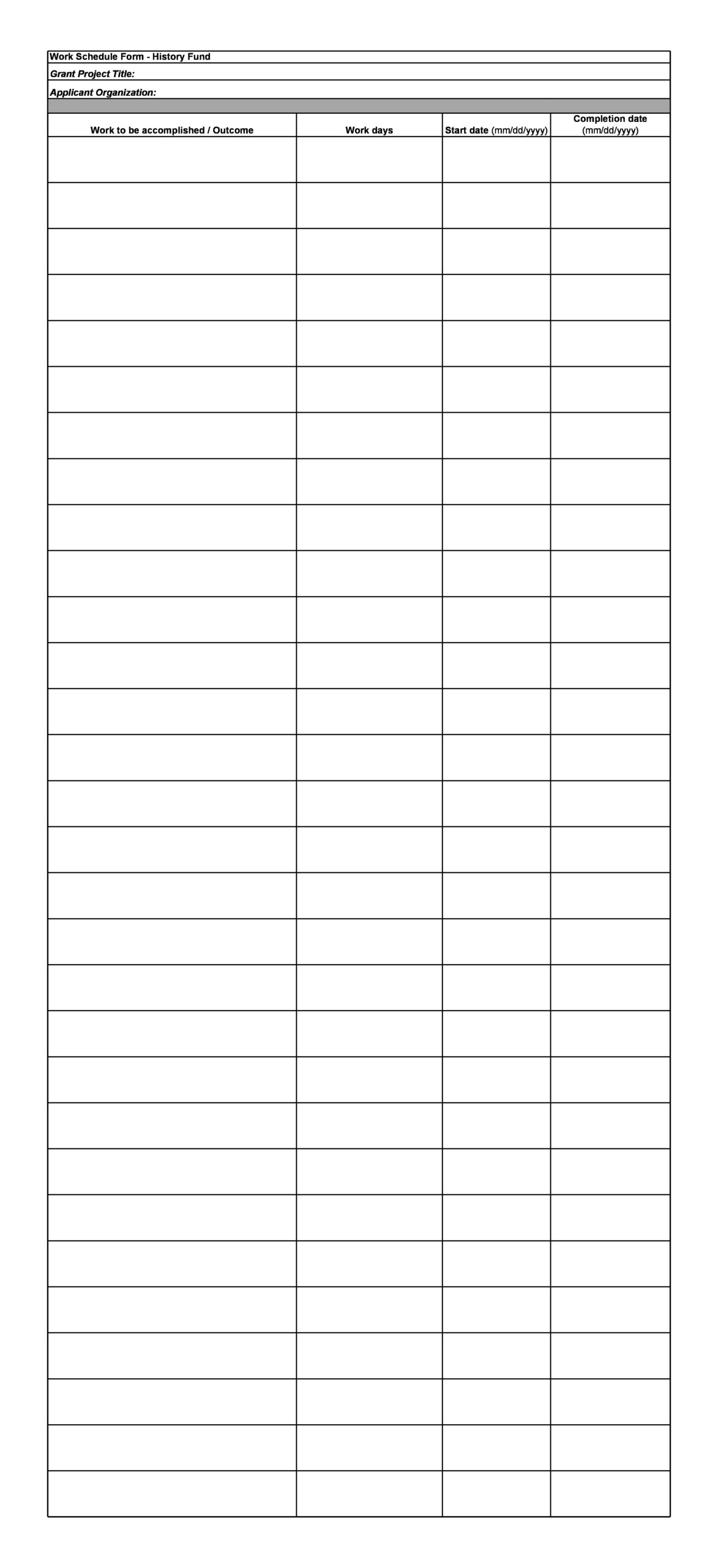 Free employee schedule template 29