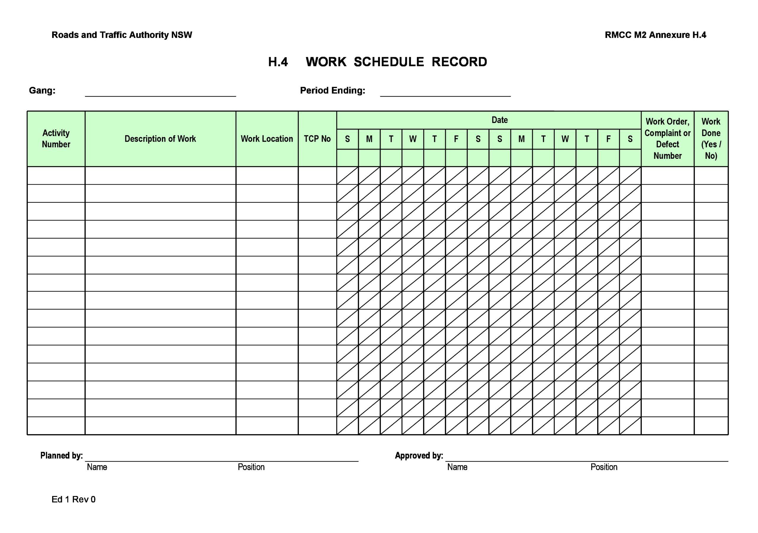 Free employee schedule template 31