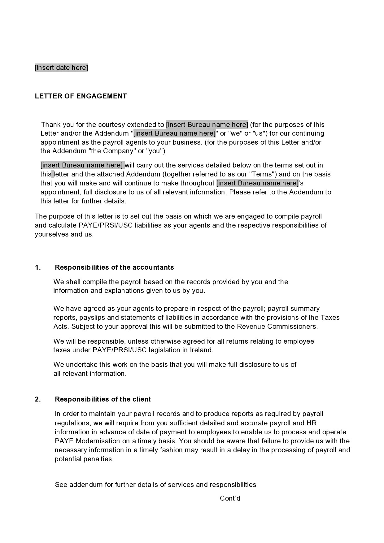 Free engagement letter 12