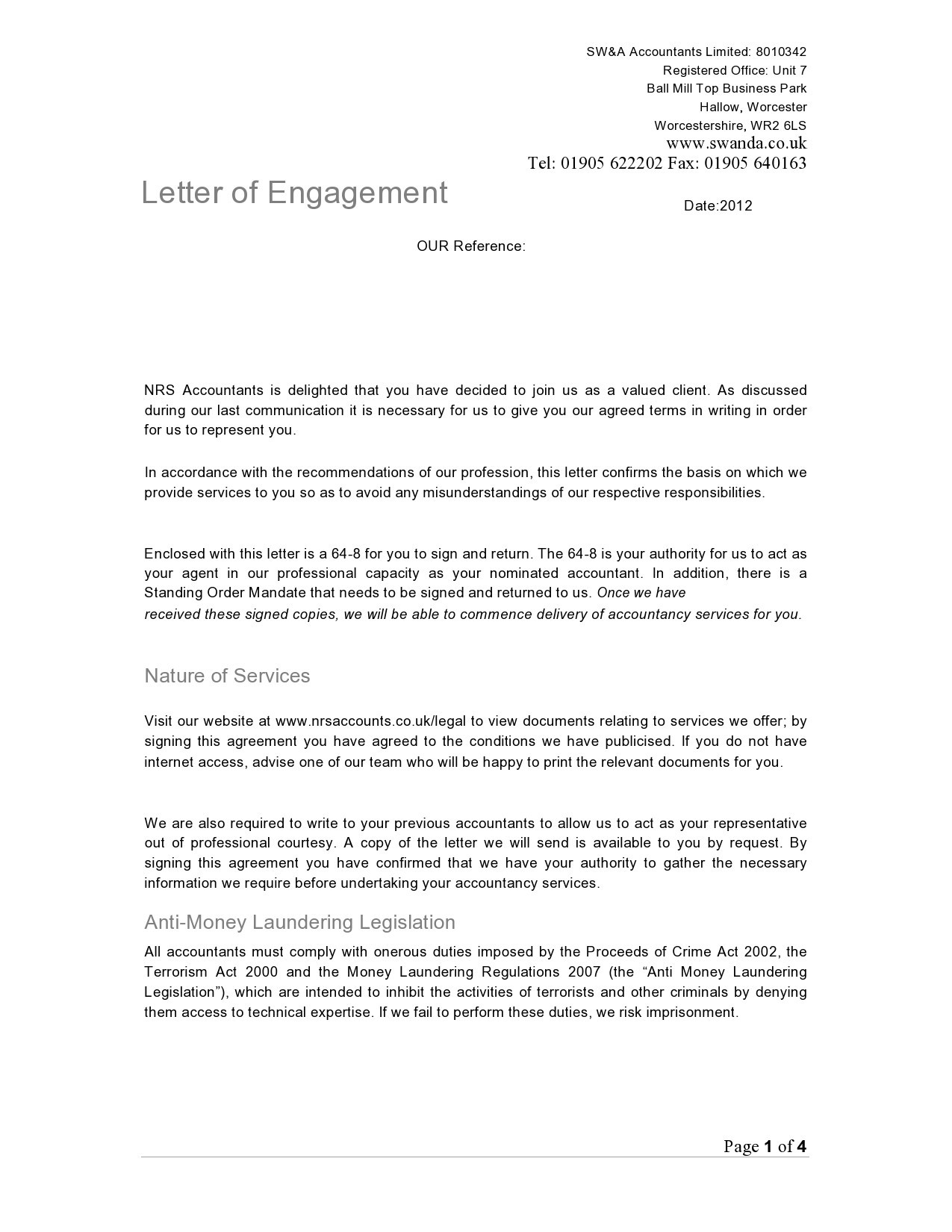 Free engagement letter 50
