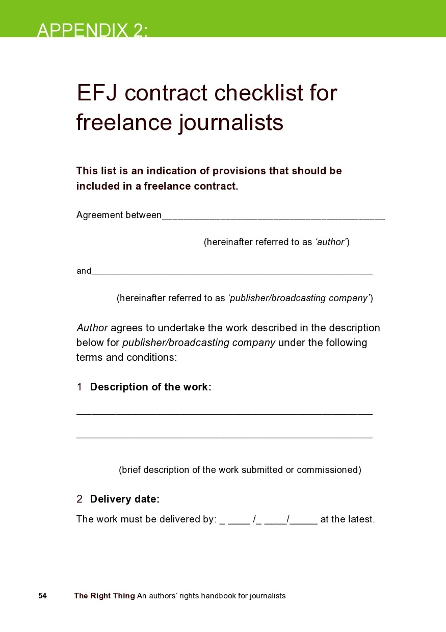 Free freelance contract template 15