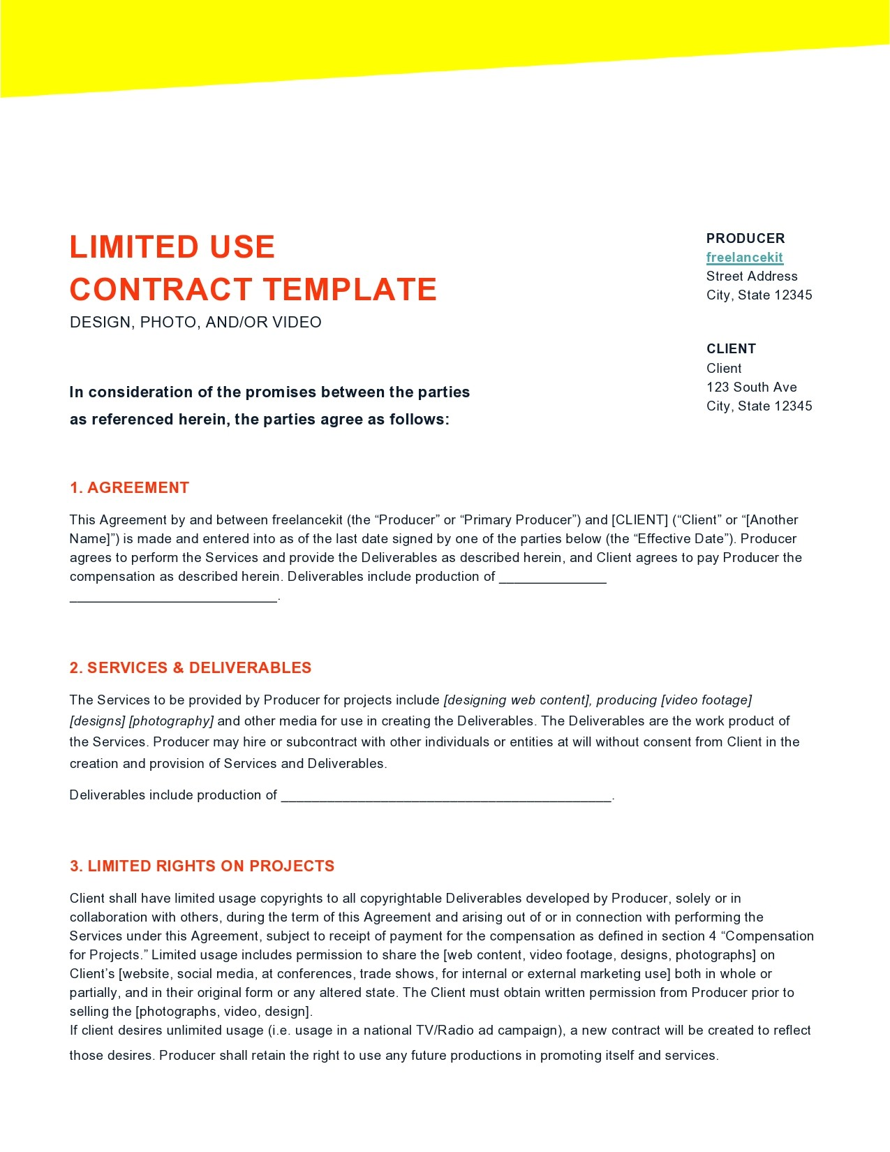 Free freelance contract template 20