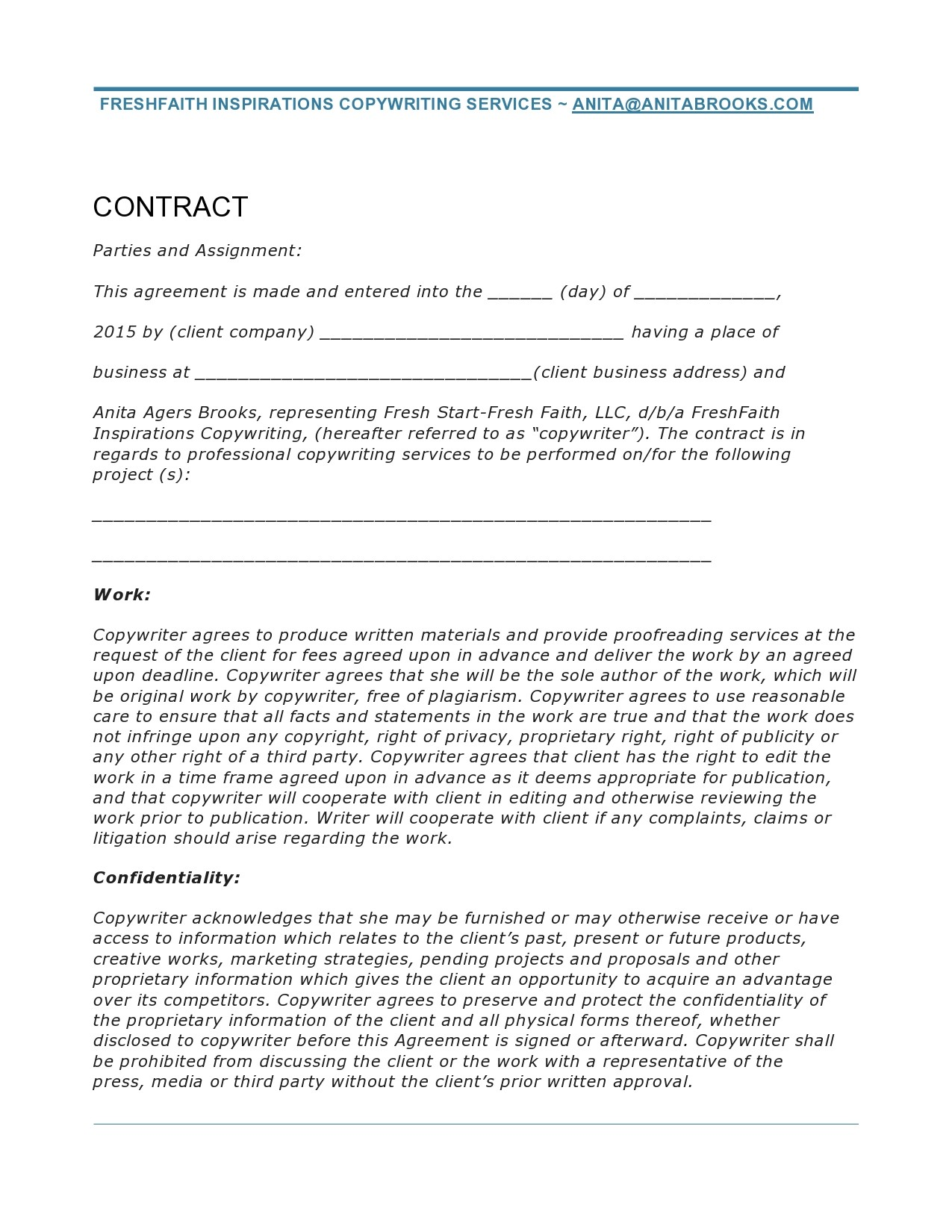 Free freelance contract template 21