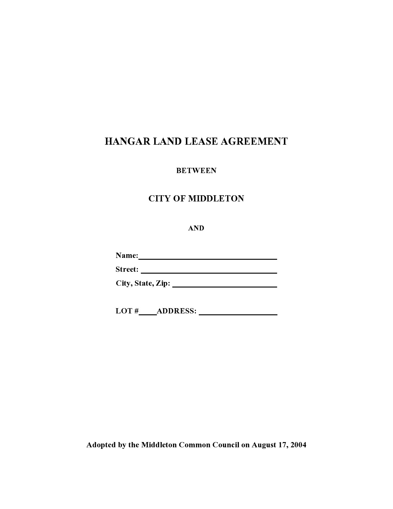 Free land lease agreement 20