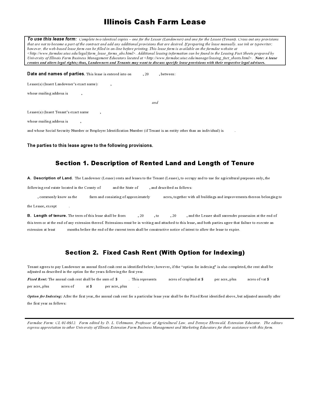 Free land lease agreement 25