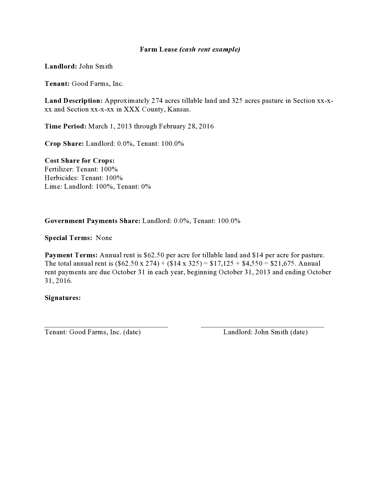 Free land lease agreement 33
