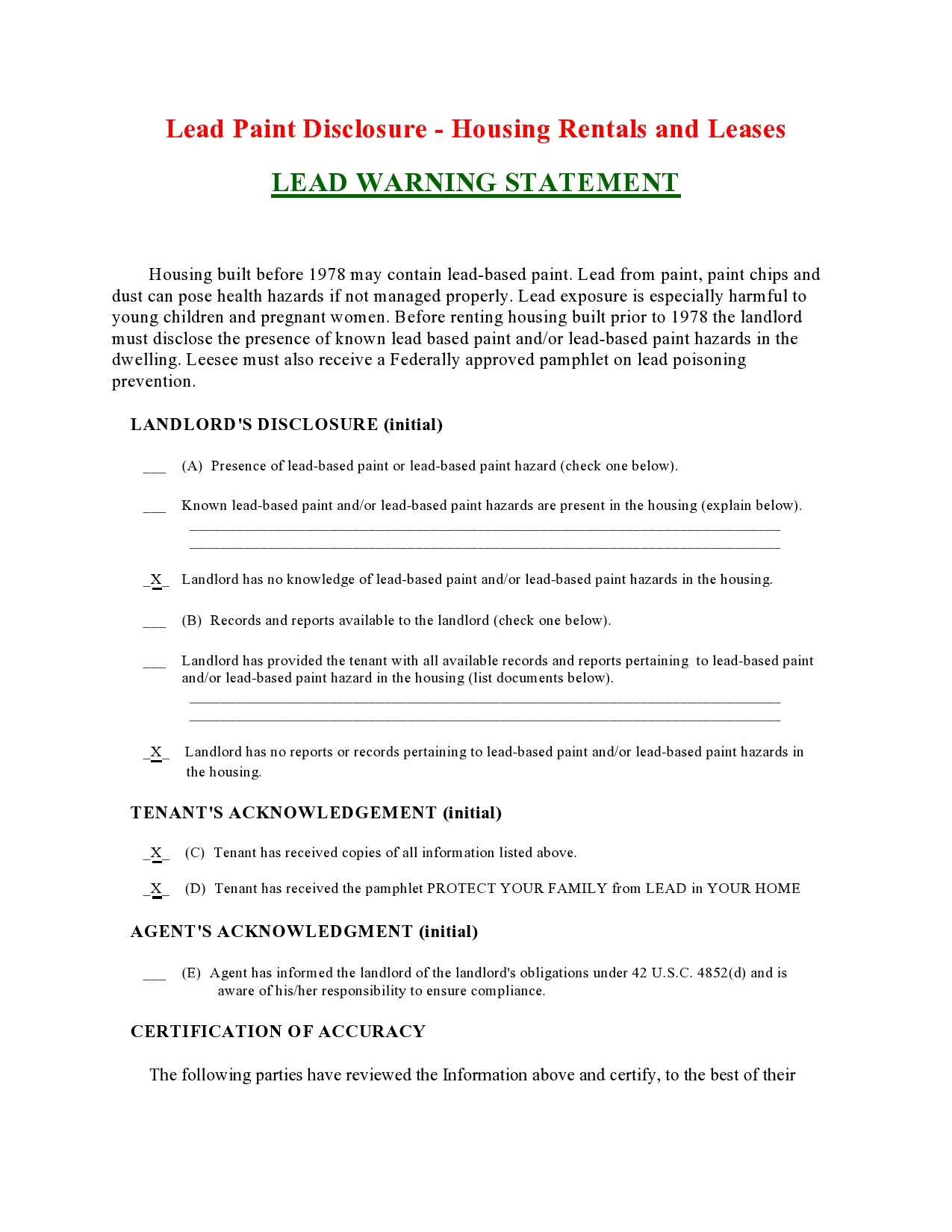 Free lead paint disclosure 14