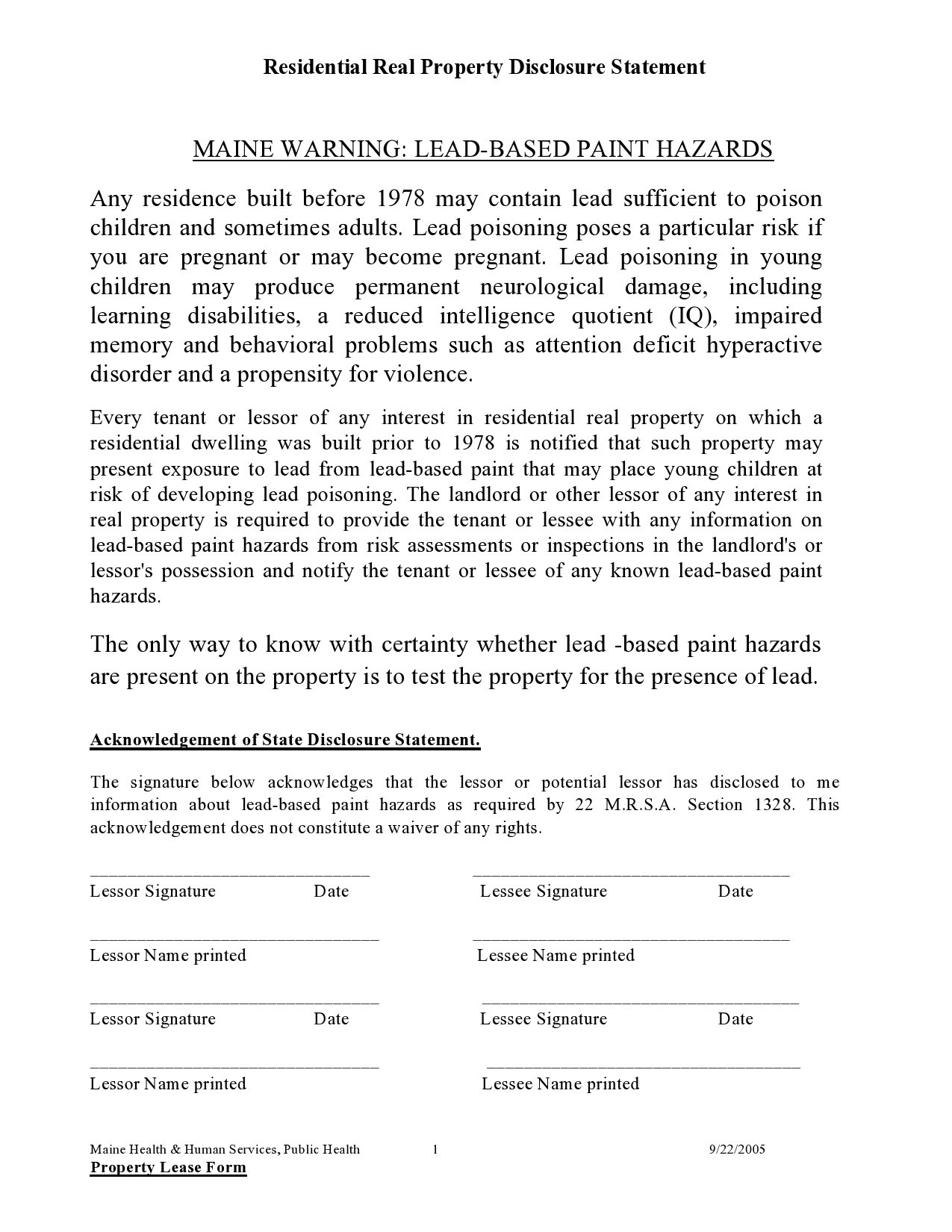 Free lead paint disclosure 28
