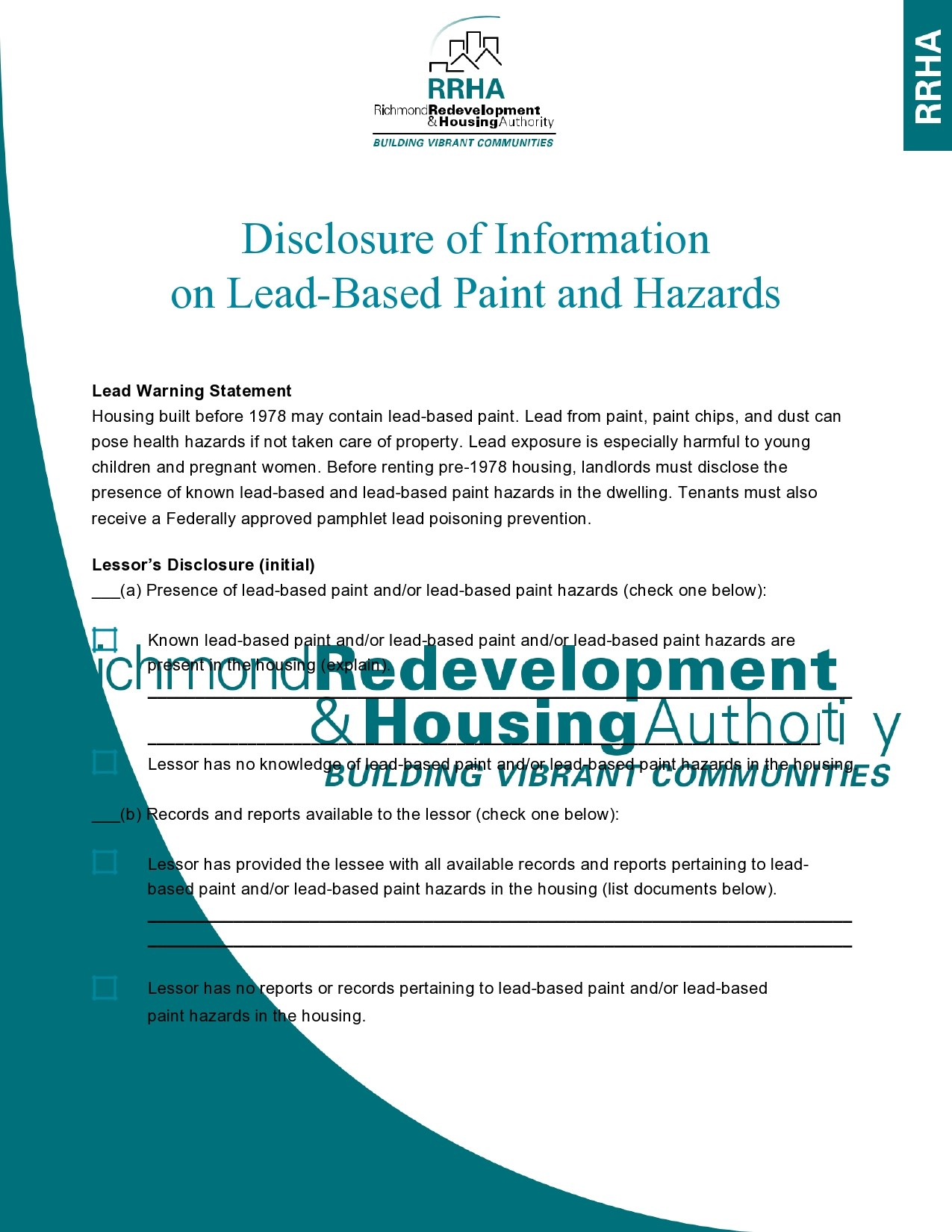Free lead paint disclosure 43