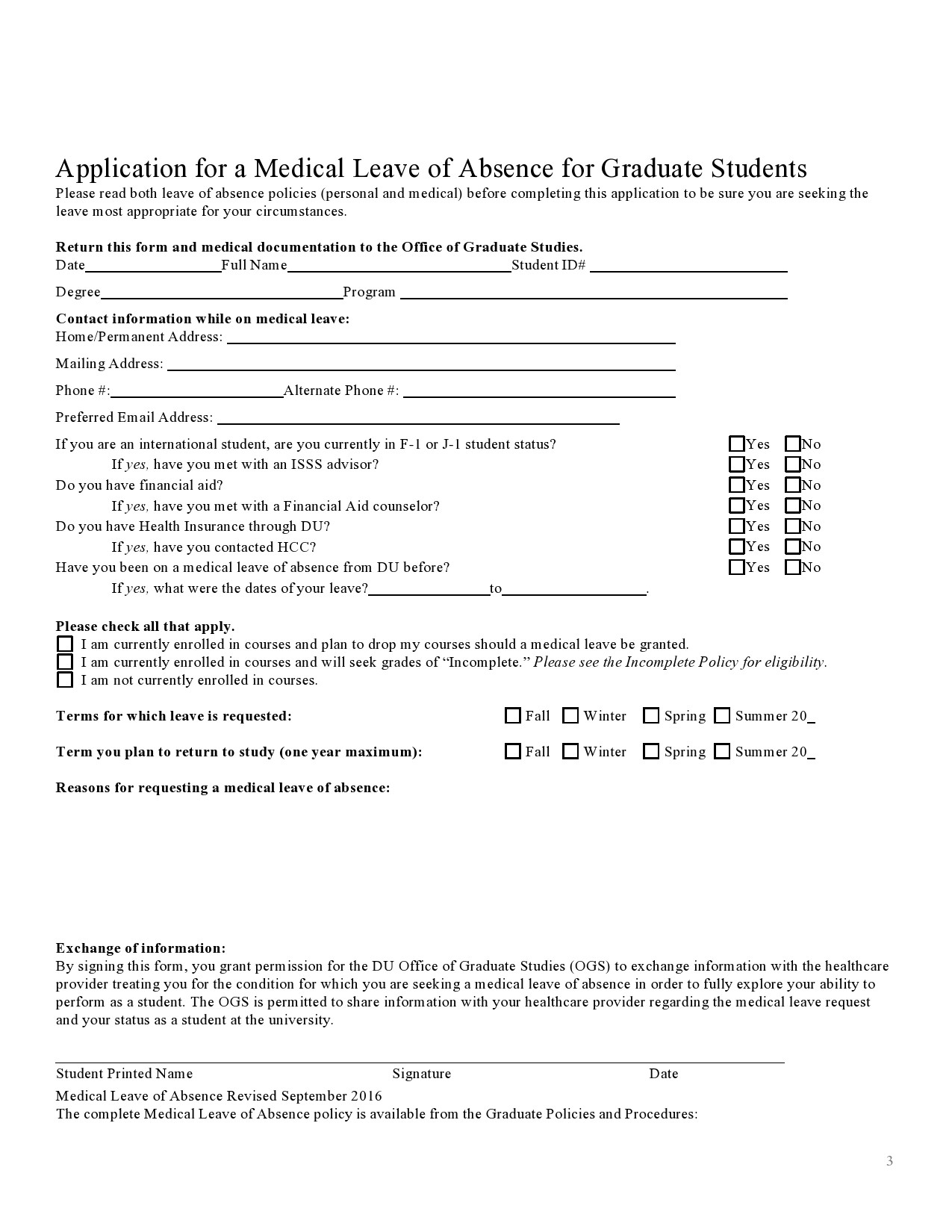 Free leave of absence letter 22