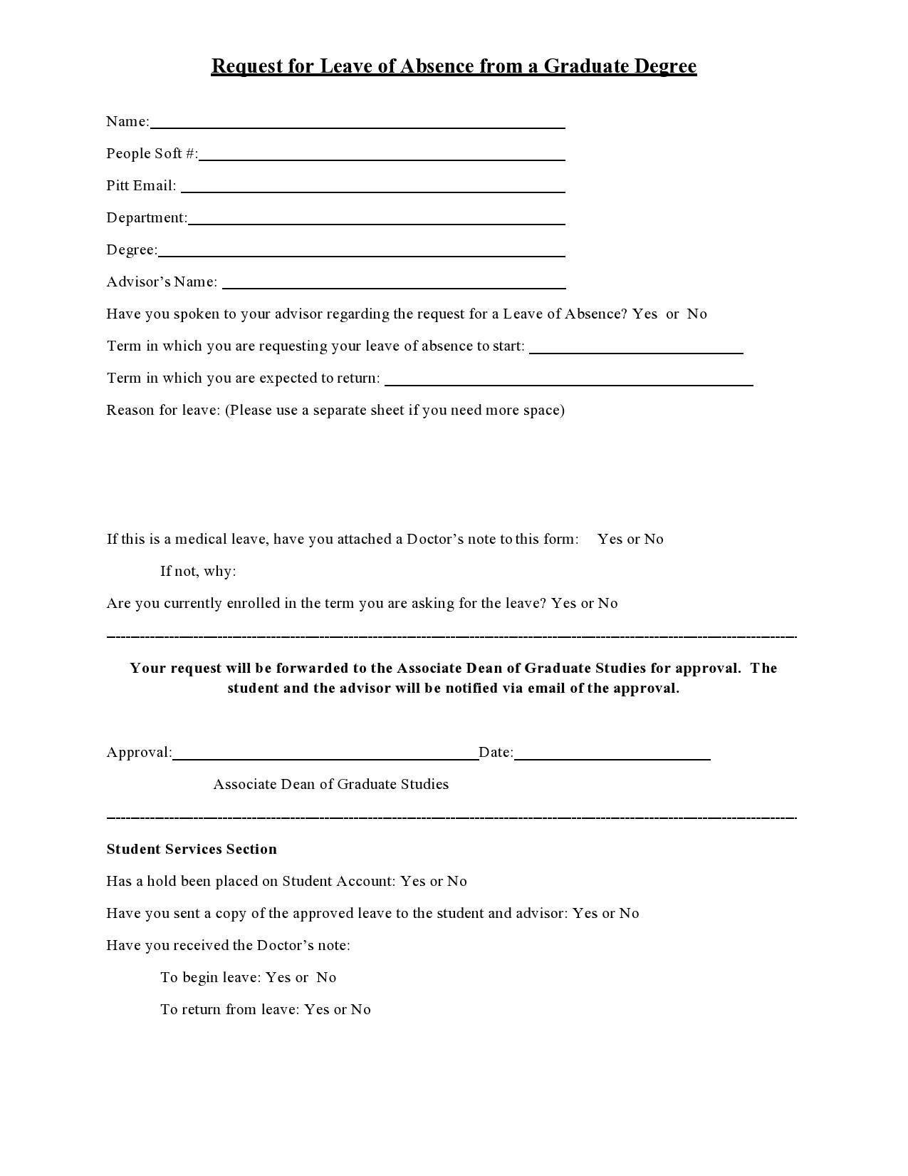 Free leave of absence letter 25