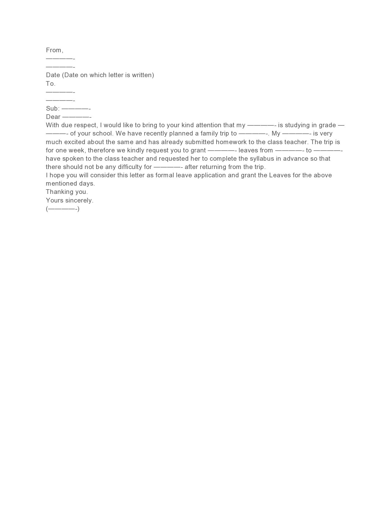 Free leave of absence letter 36