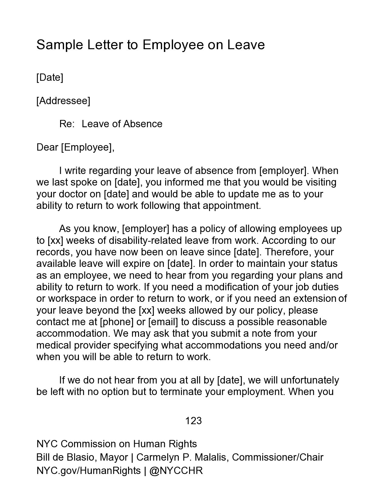 Free leave of absence letter 37