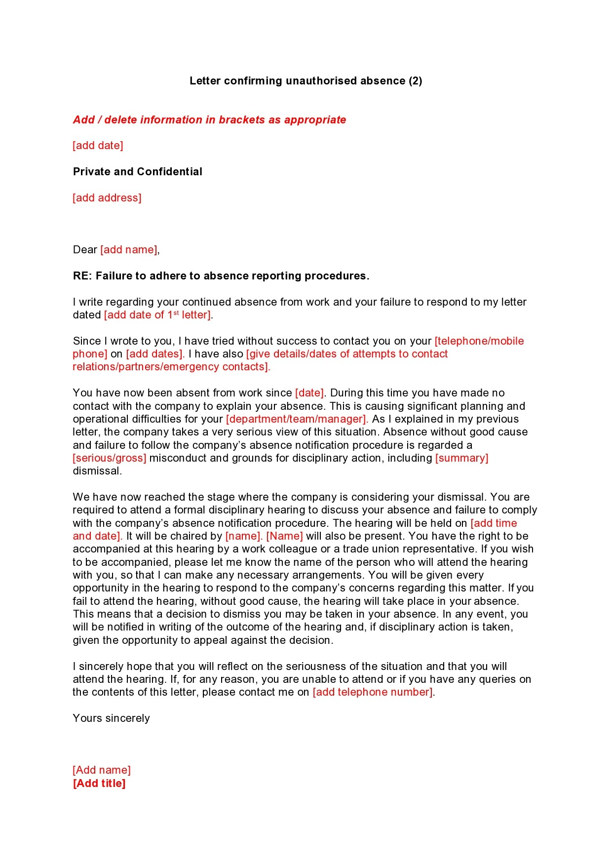 Free leave of absence letter 41