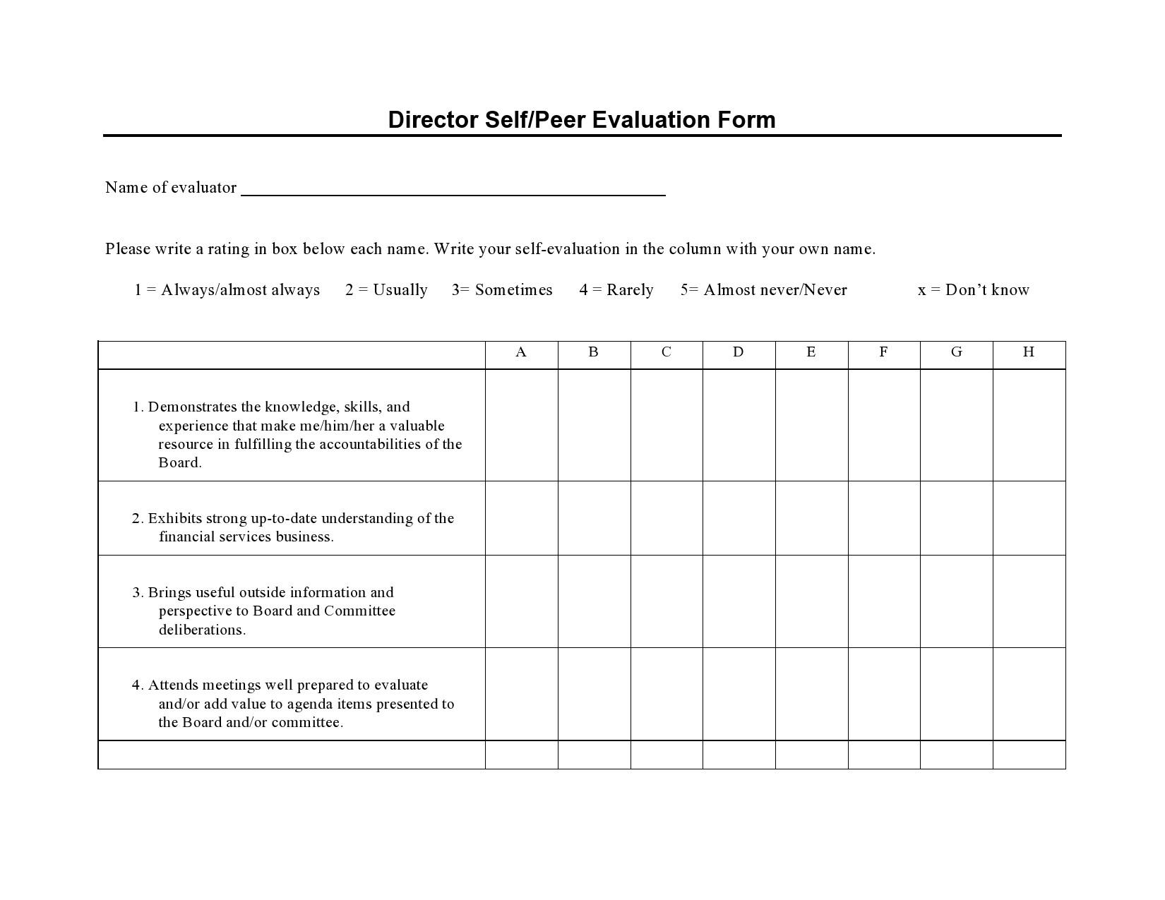 Free peer evaluation form 20