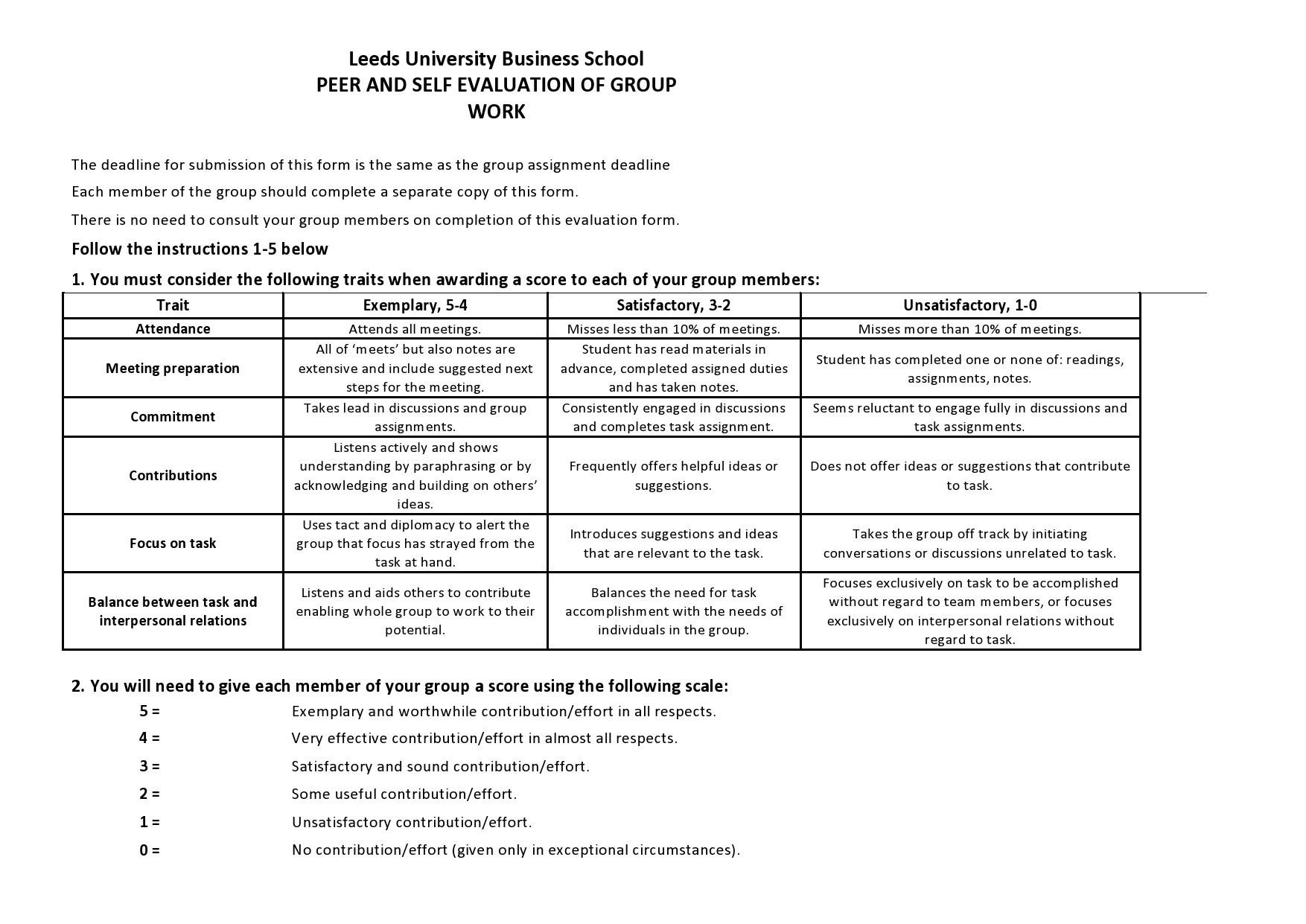 Free peer evaluation form 27