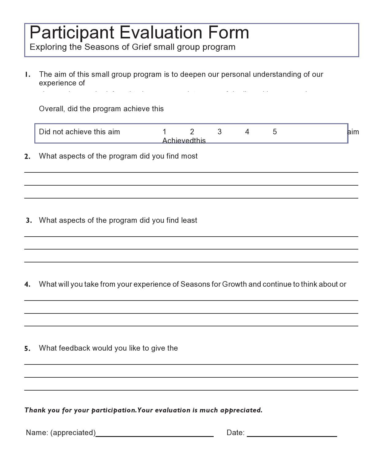 Free peer evaluation form 41
