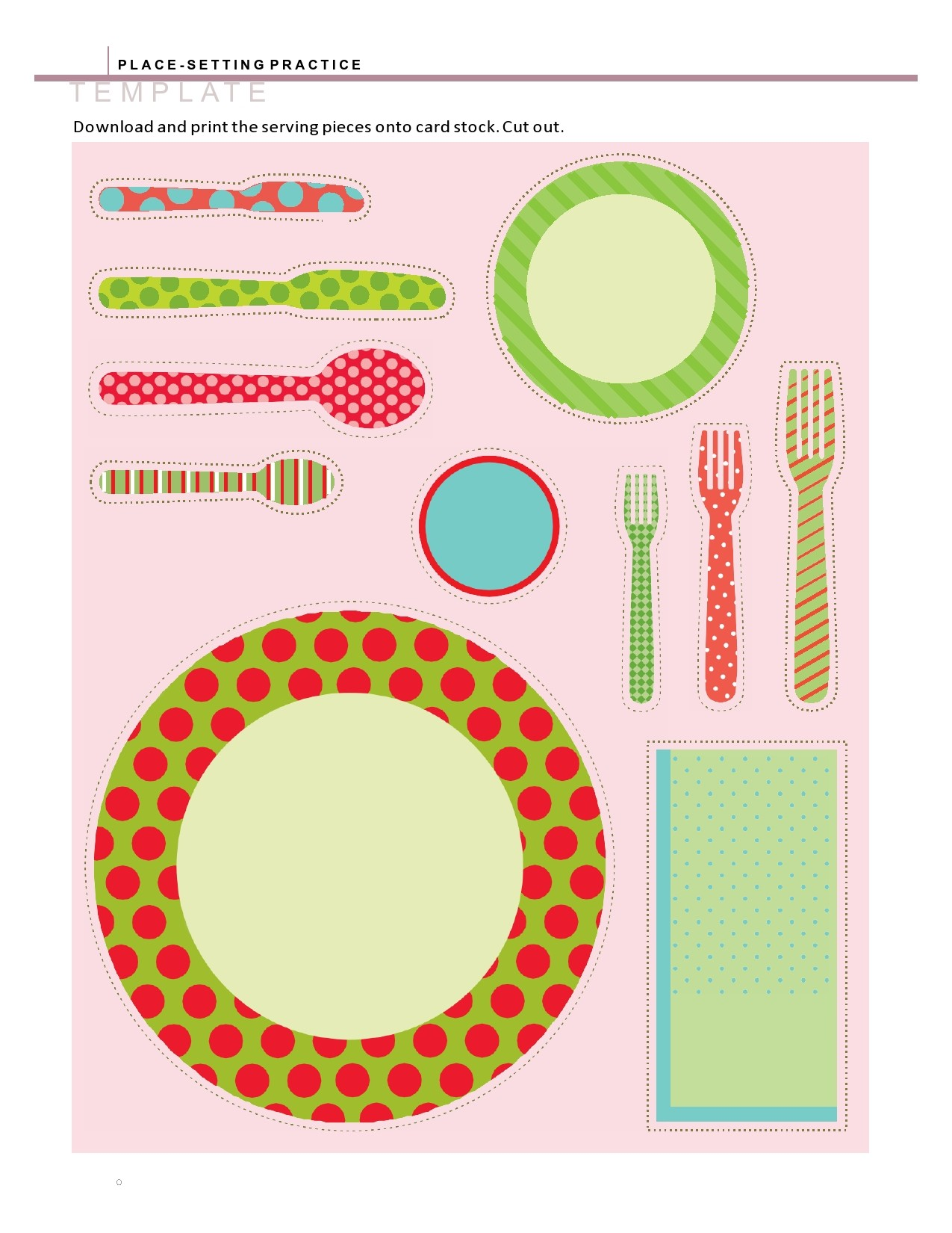 Free place setting template 02
