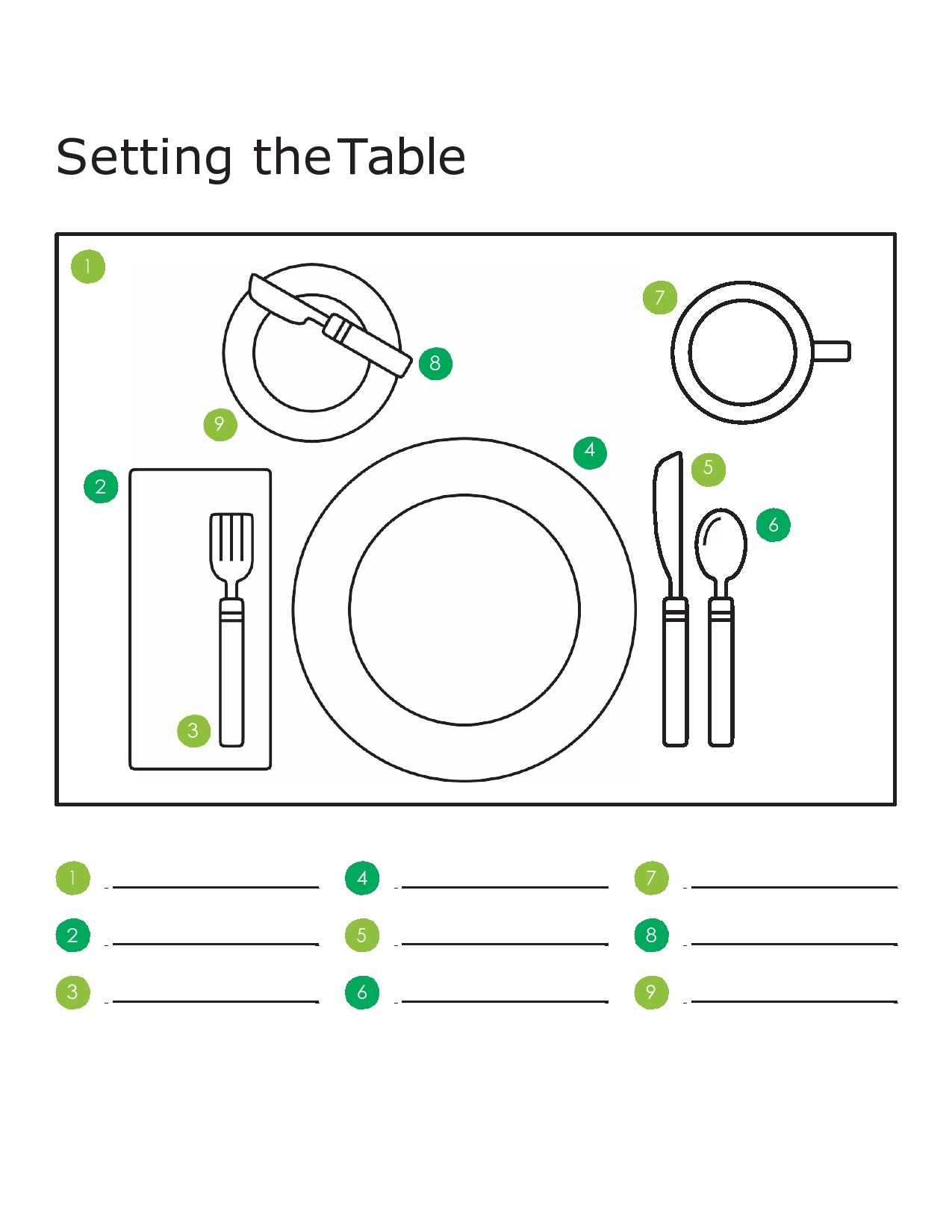 Free place setting template 03