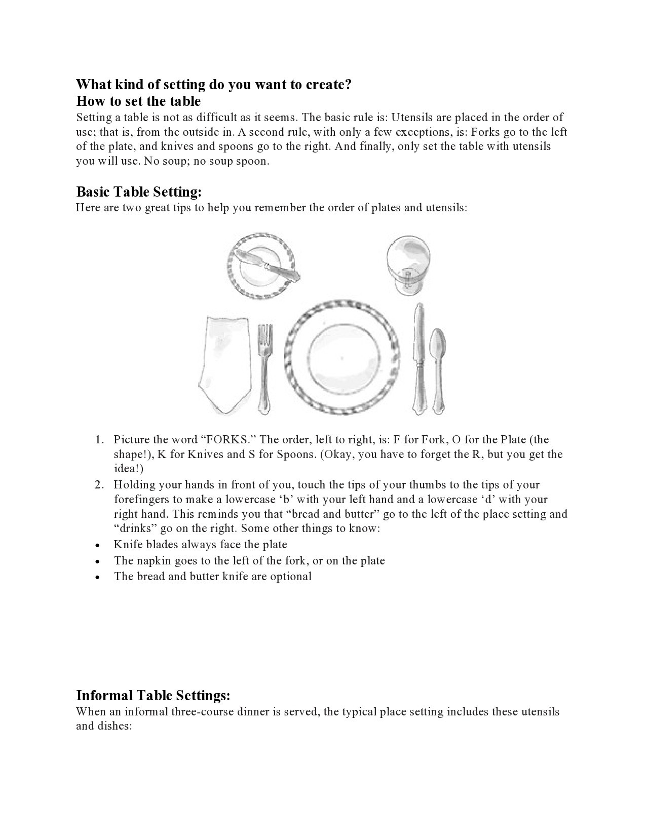 Free place setting template 11