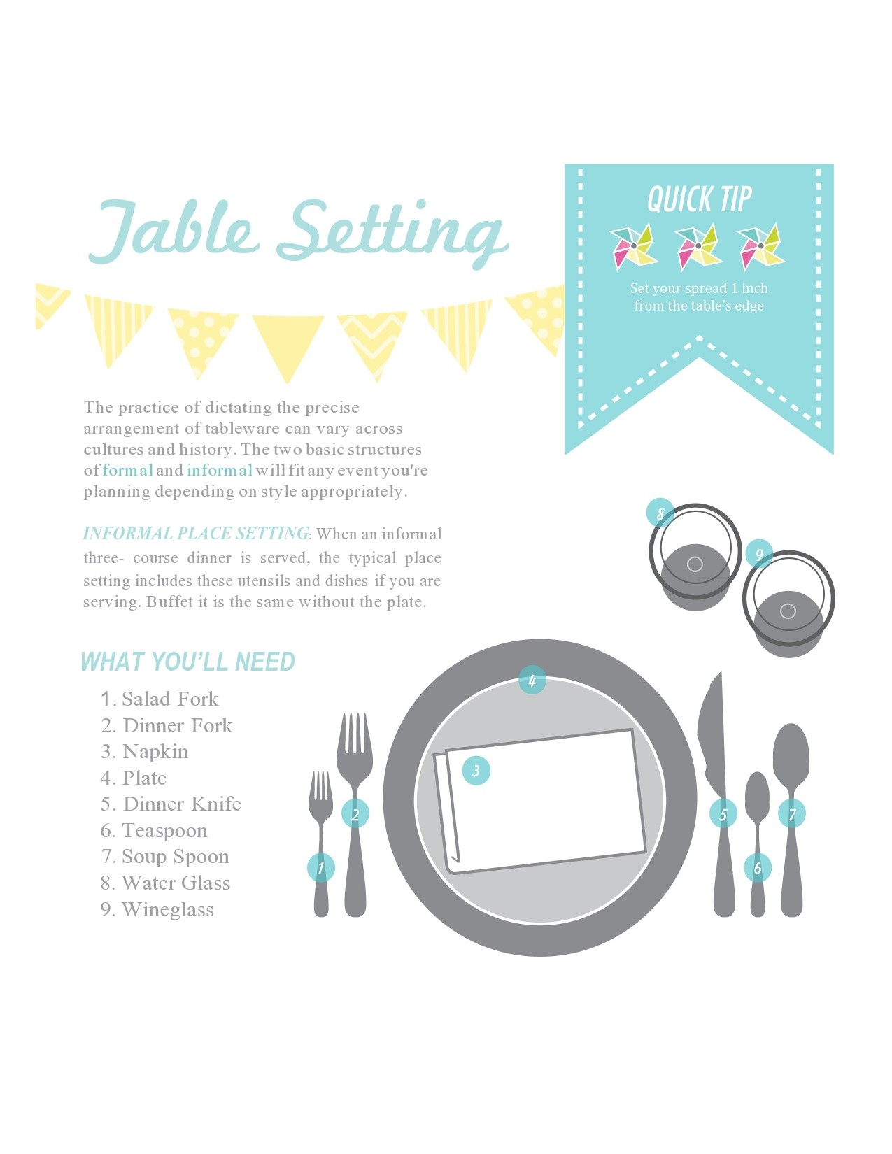 Free place setting template 14