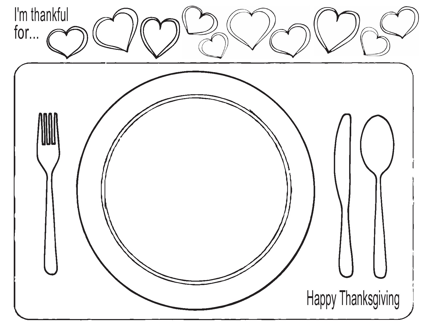 Free place setting template 20