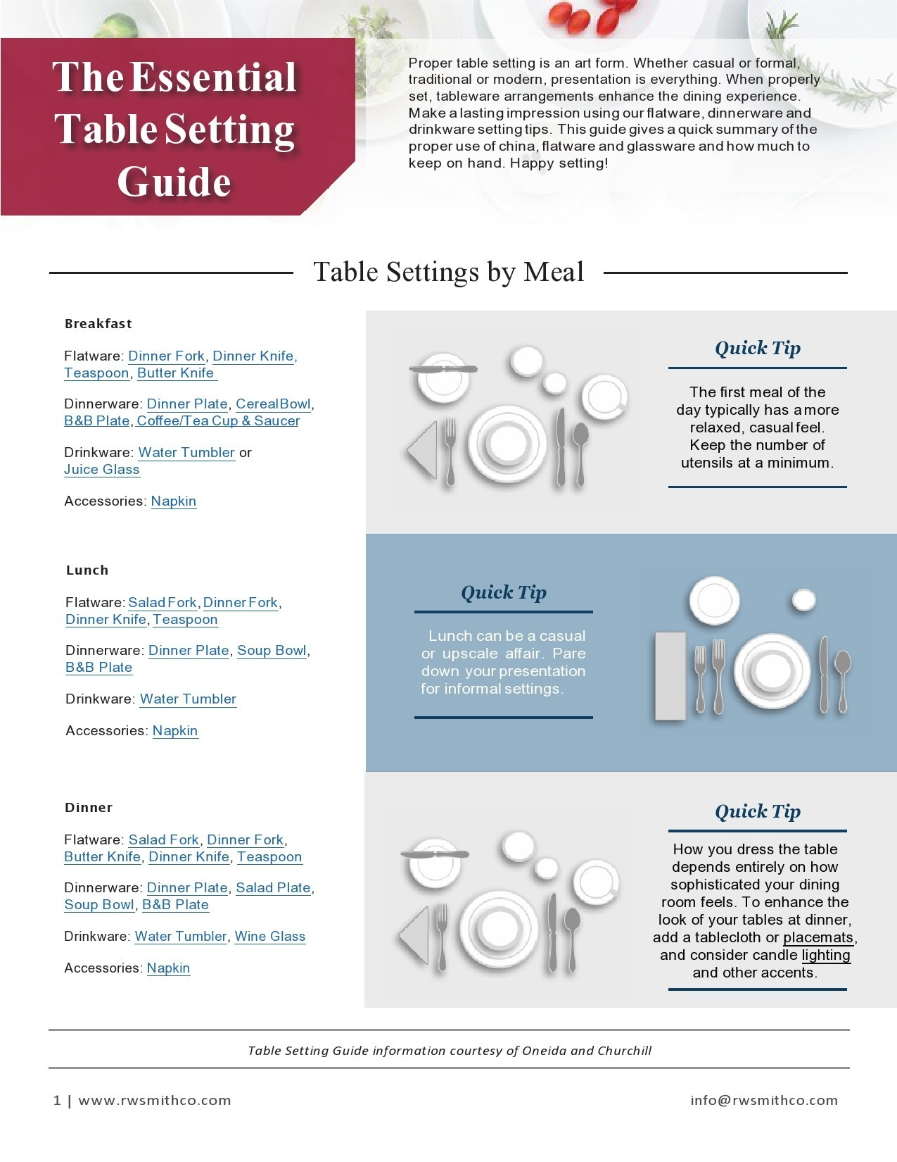 Free place setting template 21