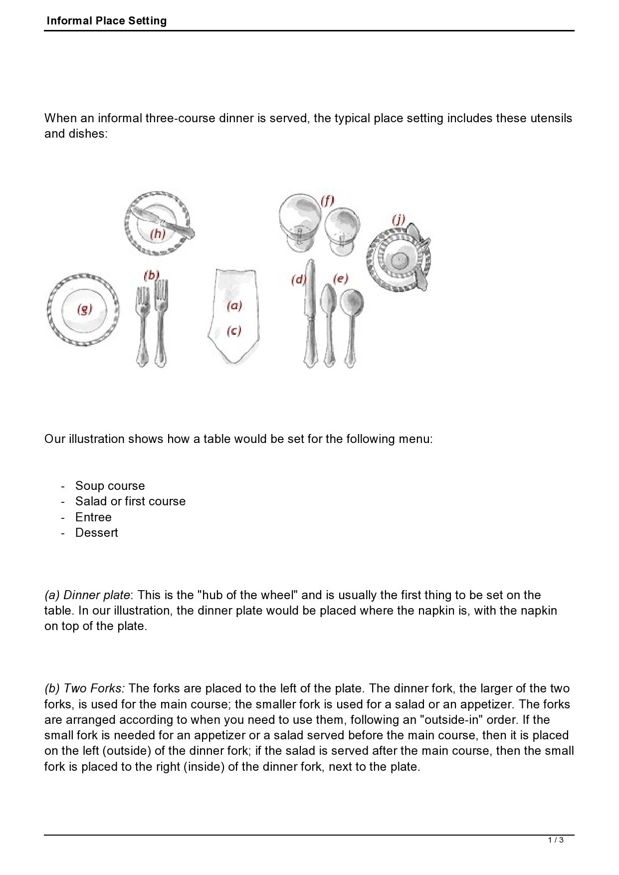 Free place setting template 33