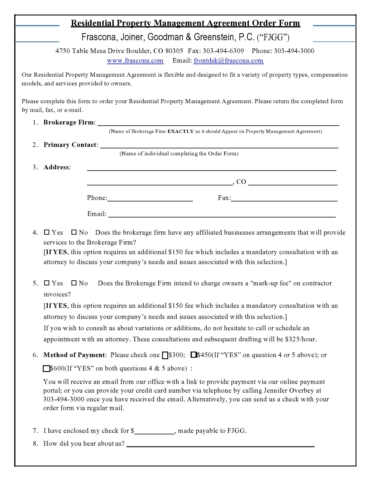 Free property management agreement 04