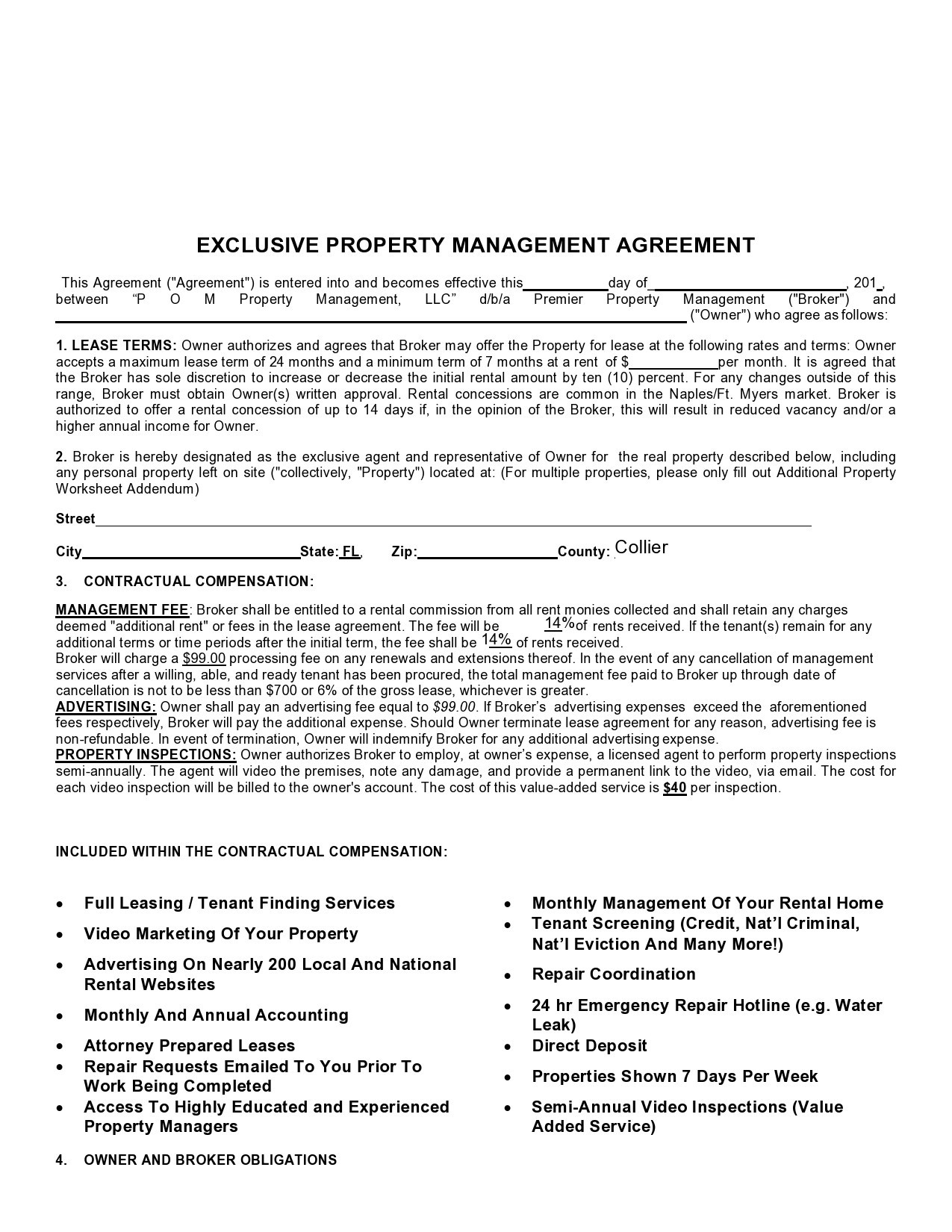 Free property management agreement 08