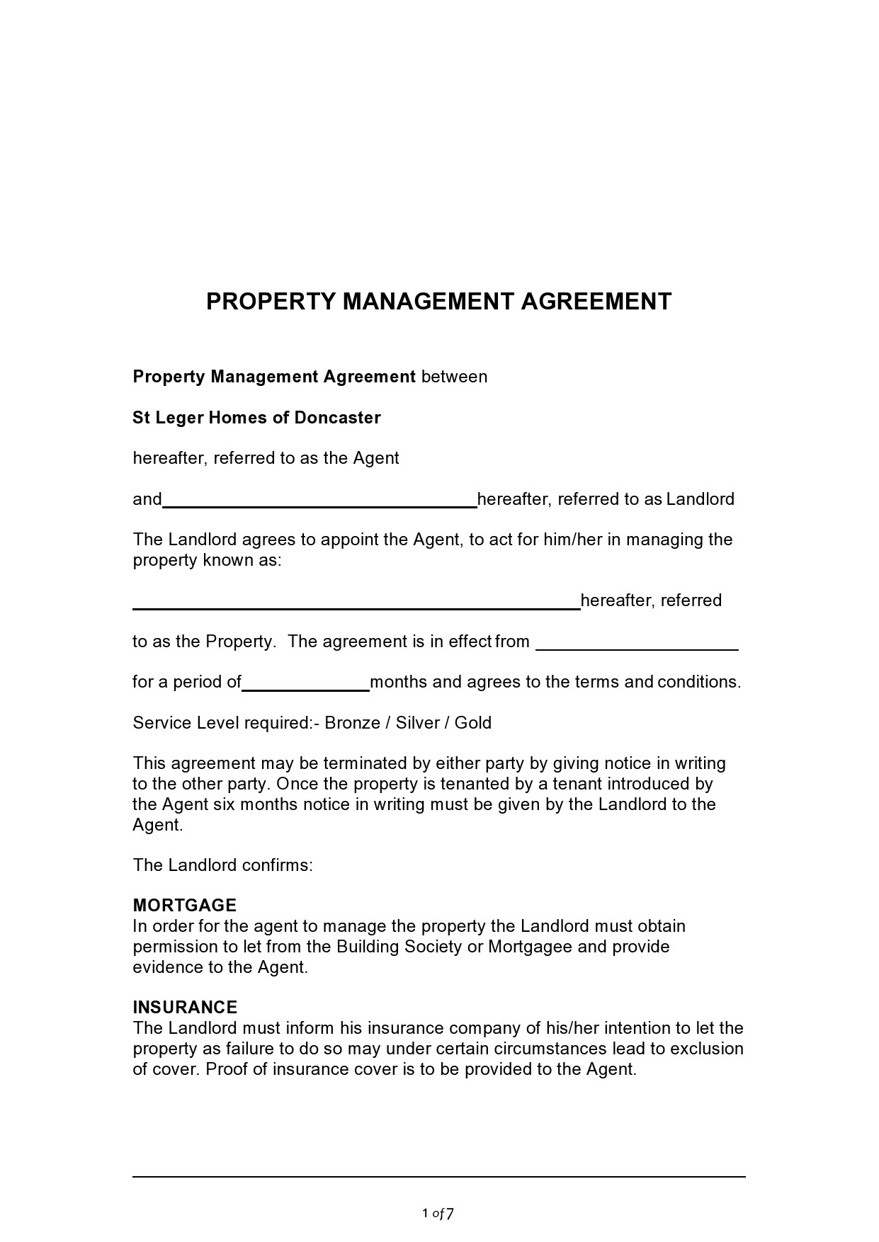 Free property management agreement 12