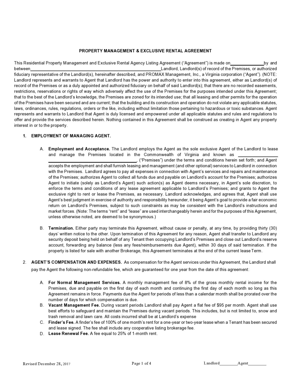Free property management agreement 23