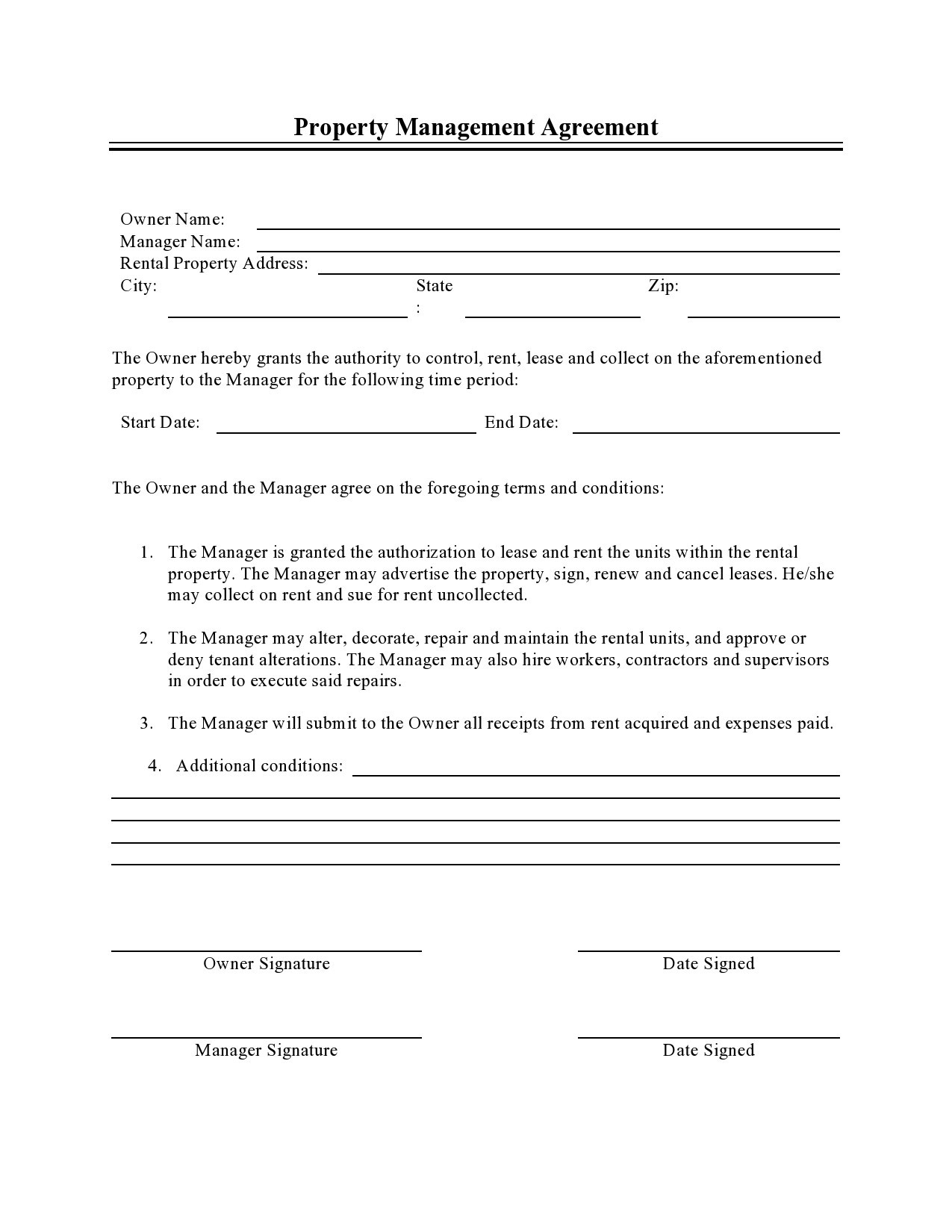 Free property management agreement 27