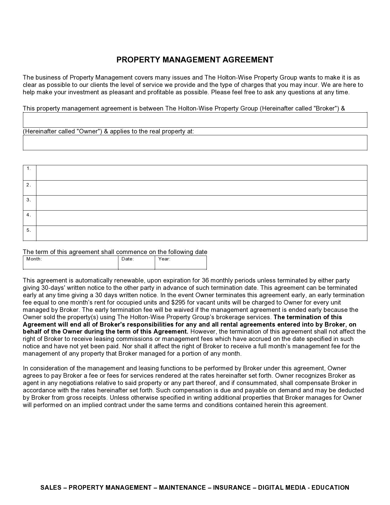 Free property management agreement 42